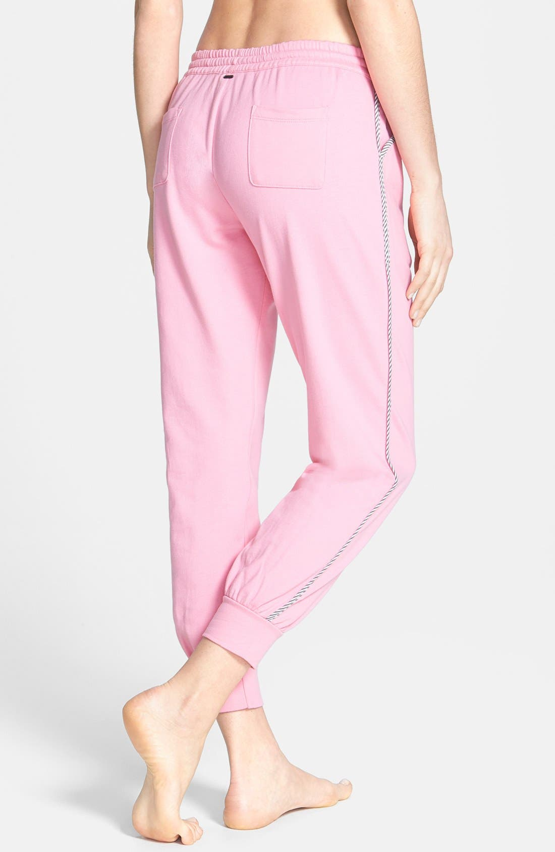 Alternate Image 2  - kensie 'Rosy Outlook' French Terry Ankle Pajama Pants