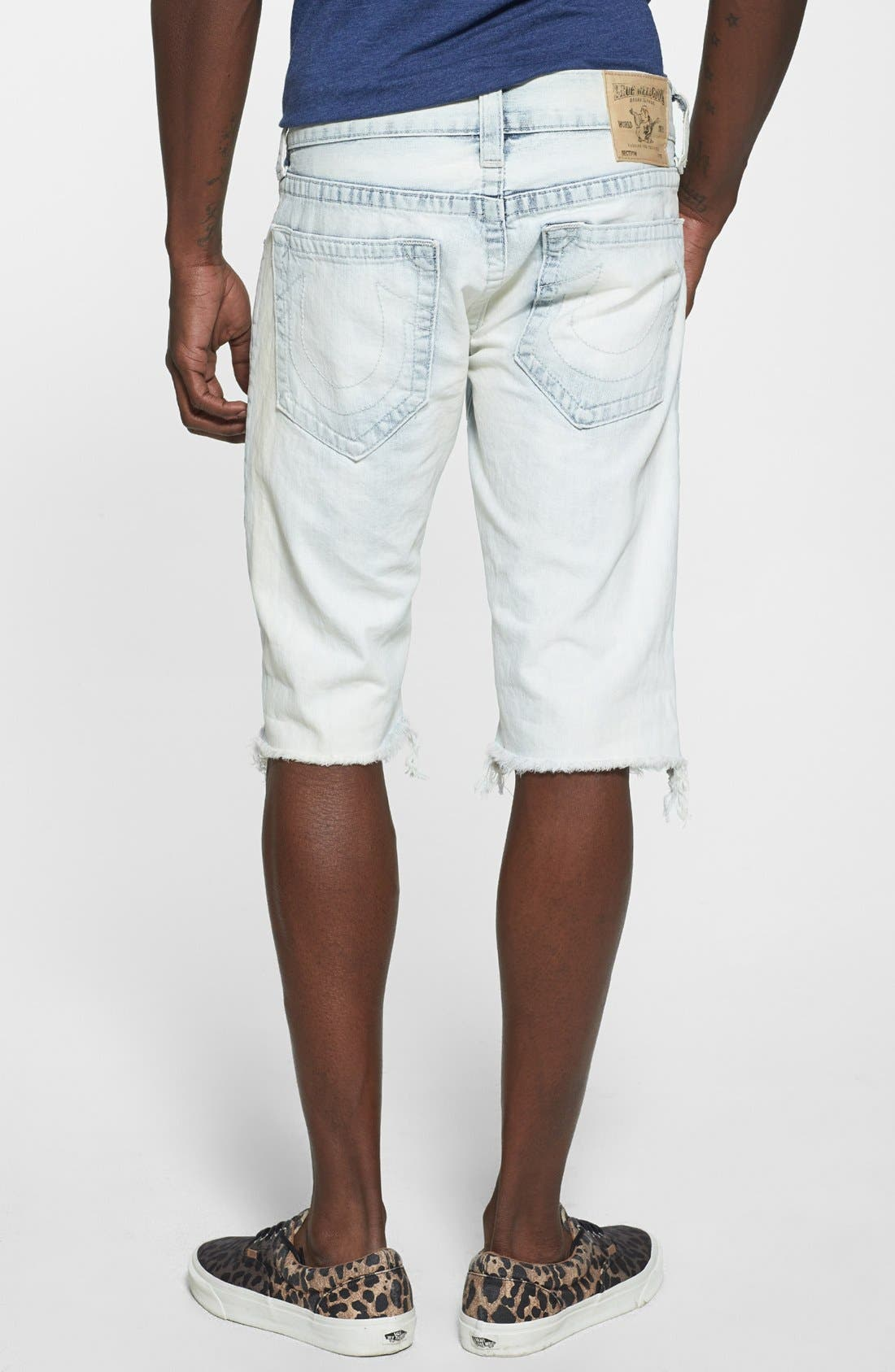 Alternate Image 2  - True Religion Brand Jeans 'Geno' Cutoff Denim Shorts