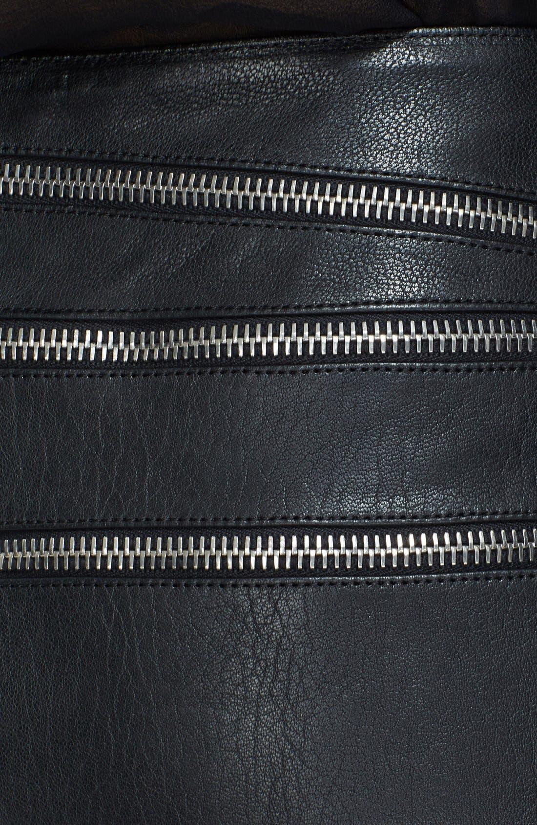Alternate Image 3  - Saint Laurent Leather Miniskirt