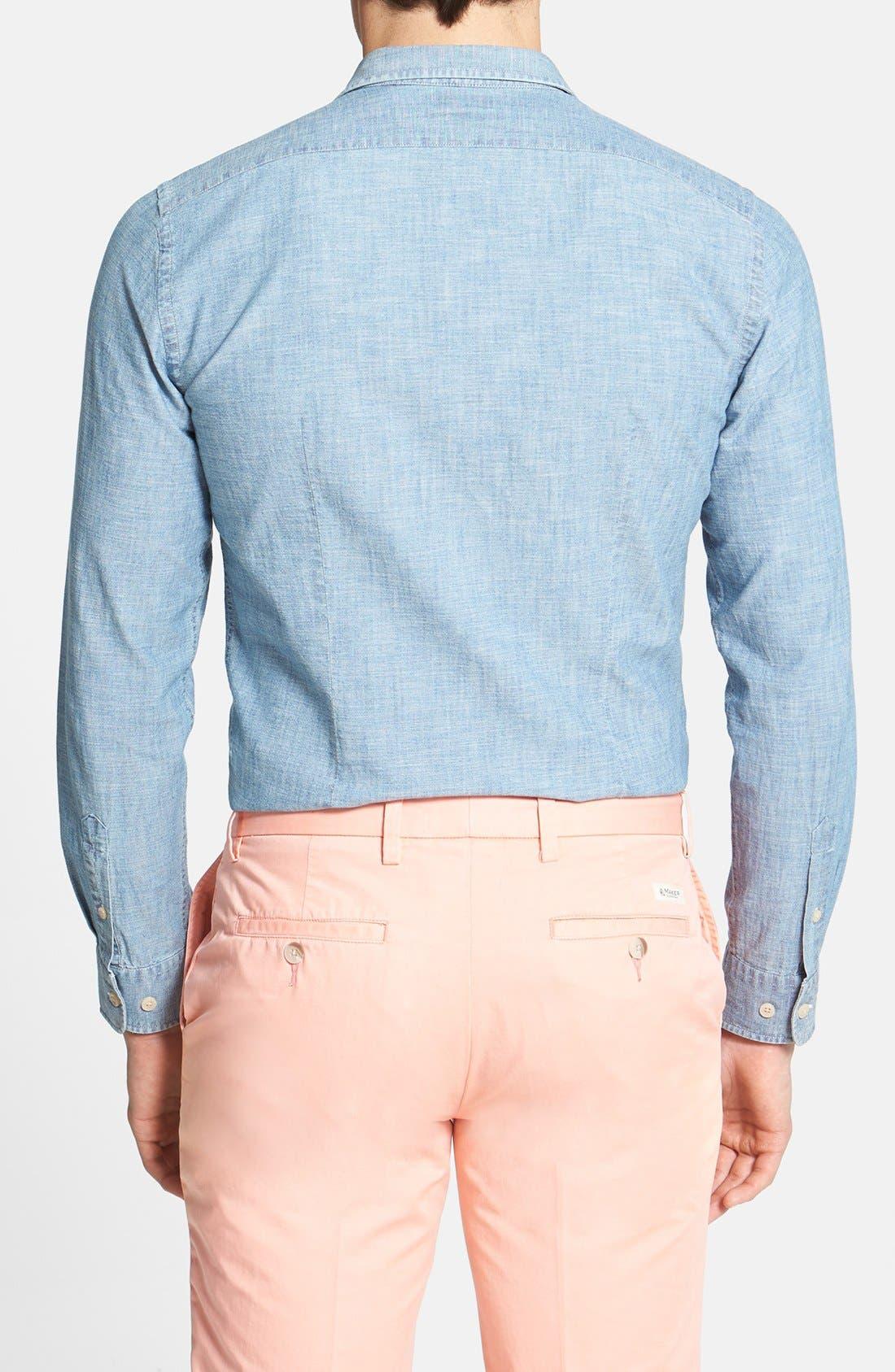 Alternate Image 2  - Façonnable Slim Fit Chambray Sport Shirt