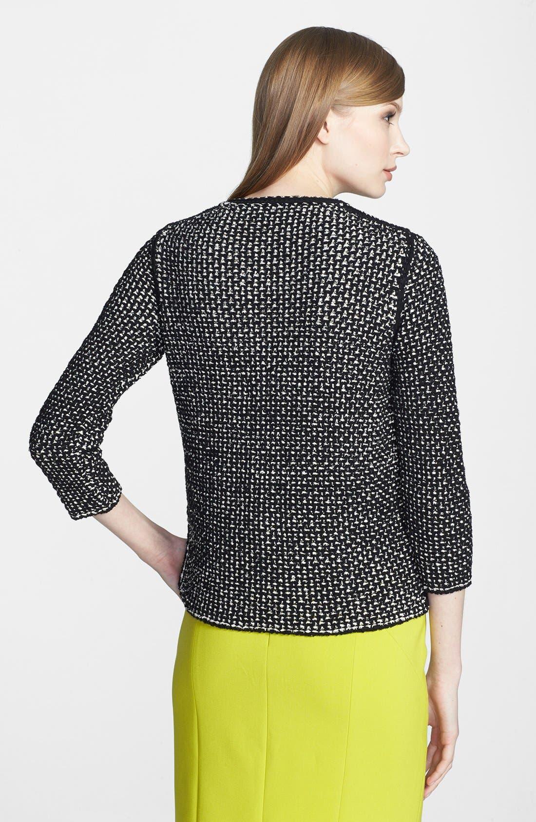 Alternate Image 2  - BOSS HUGO BOSS Cotton Blend Sweater Jacket