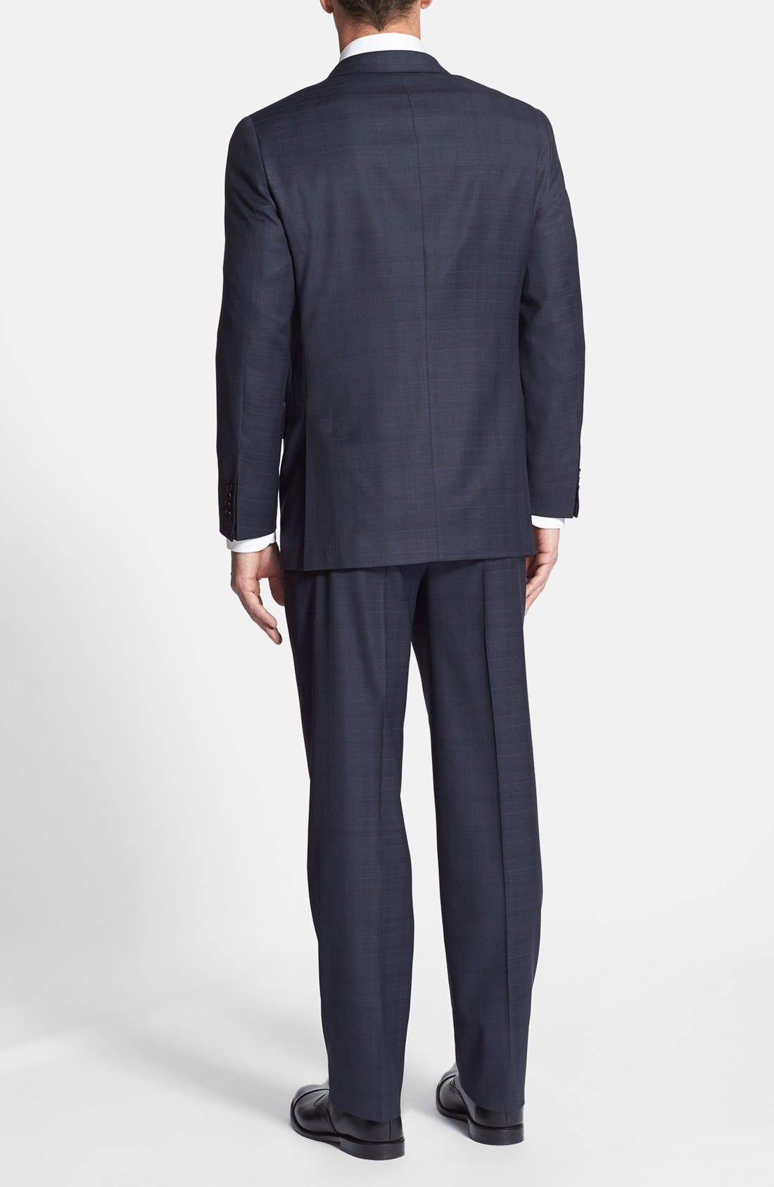 Alternate Image 2  - Hickey Freeman Classic Fit Plaid Suit