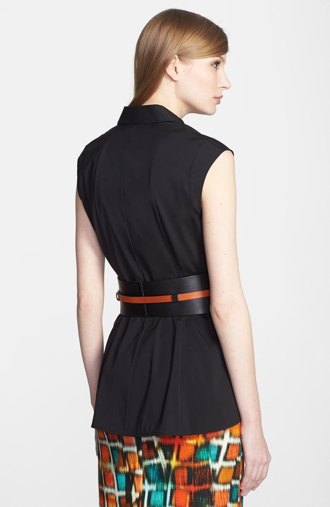 Alternate Image 3  - Lafayette 148 New York Leather Obi with Detachable Skinny Belt