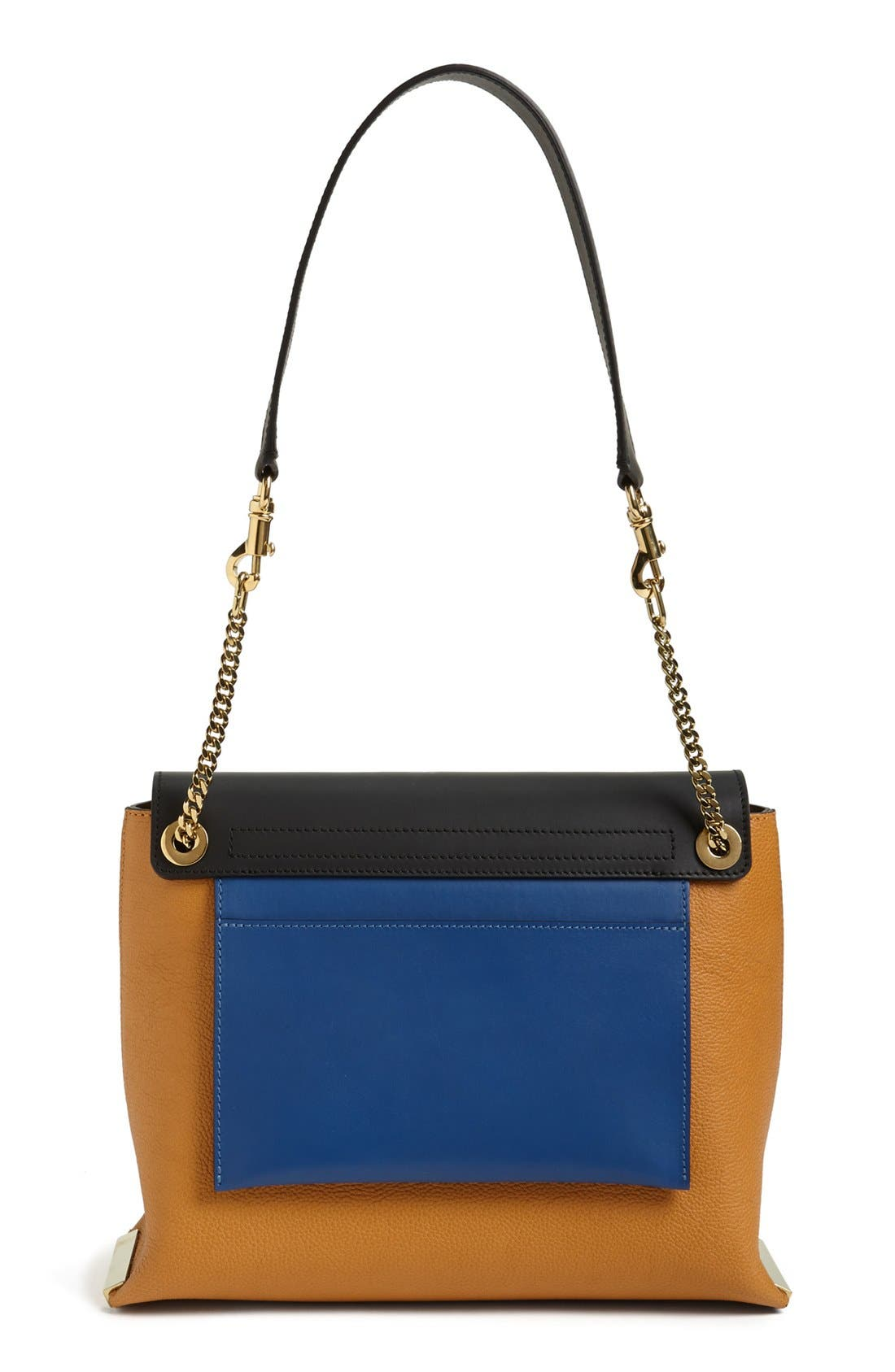 Alternate Image 4  - Chloé 'Clare' Tricolor Leather Shoulder Bag