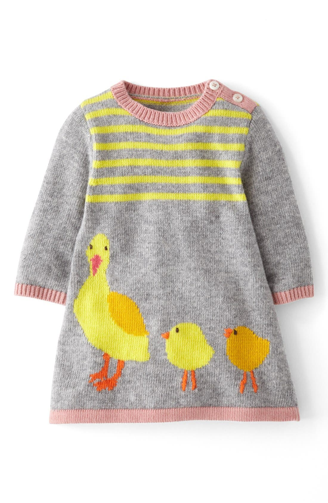 Main Image - Mini Boden 'My Baby' Knit Dress (Baby Girls)