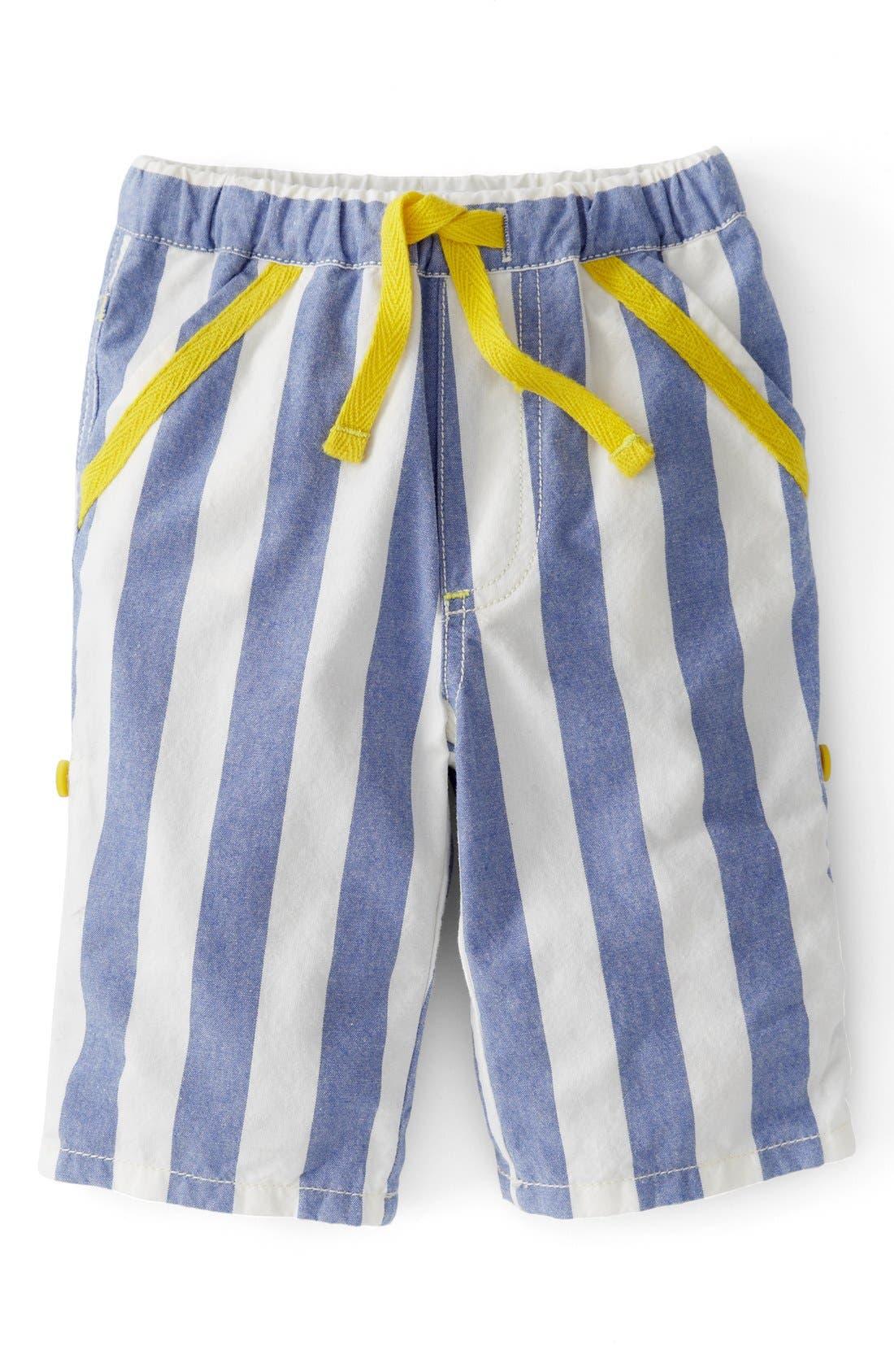 Alternate Image 1 Selected - Mini Boden Check Print Pants (Baby Boys)