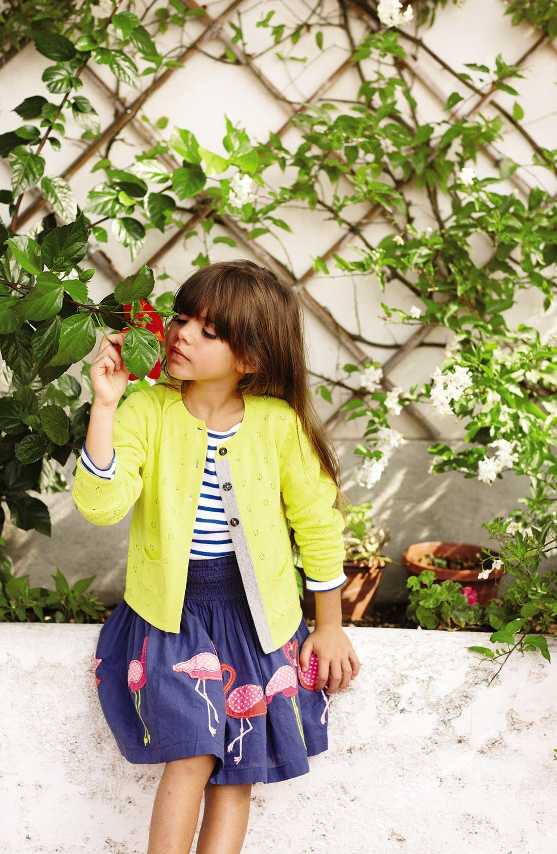 Alternate Image 2  - Mini Boden 'Pretty Pointelle' Cardigan (Toddler Girls, Little Girls & Big Girls)