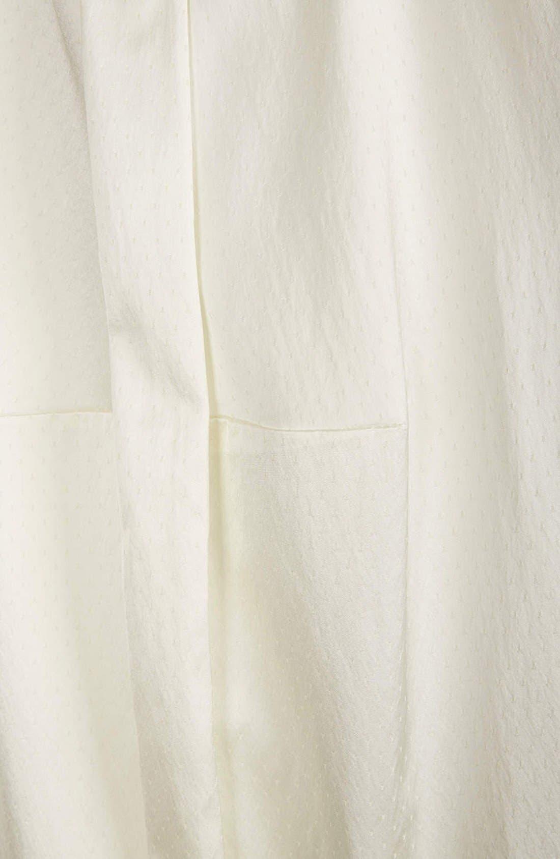 Alternate Image 5  - Topshop Pleated Silk Shift Dress
