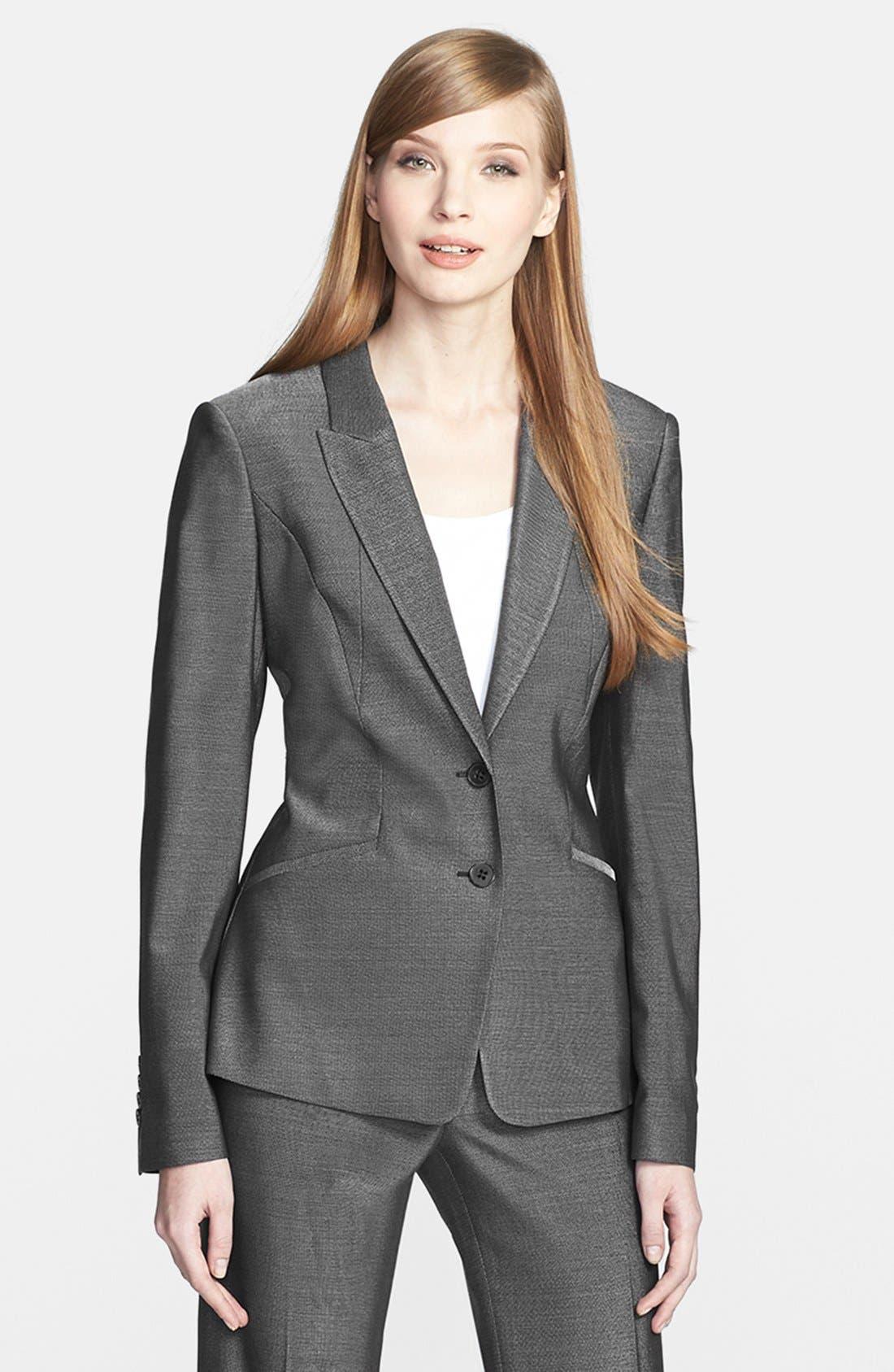 Alternate Image 1 Selected - BOSS HUGO BOSS 'Jolisa' Stretch Wool Suiting Jacket