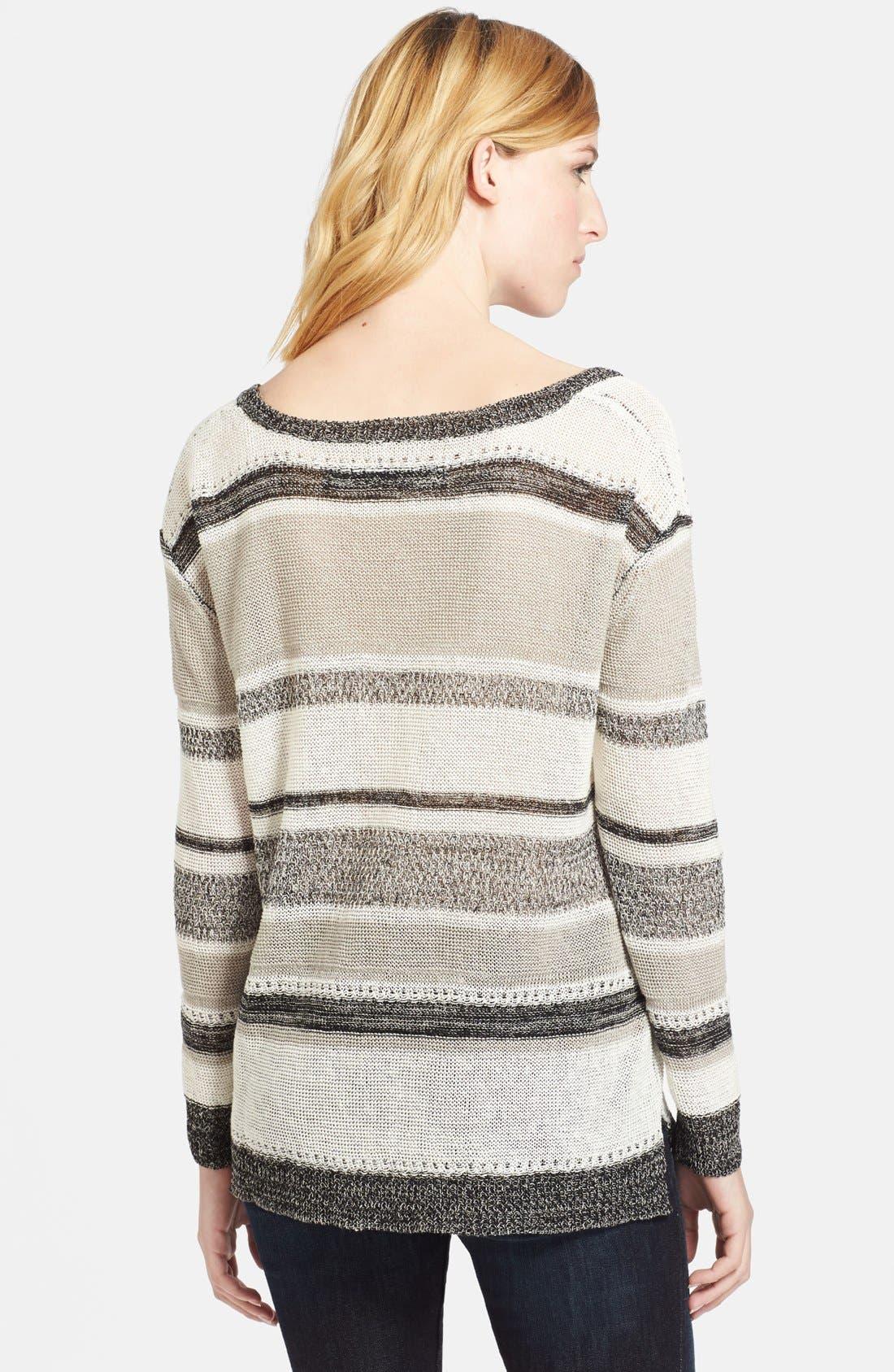 Alternate Image 2  - Enza Costa Linen Knit Sweater