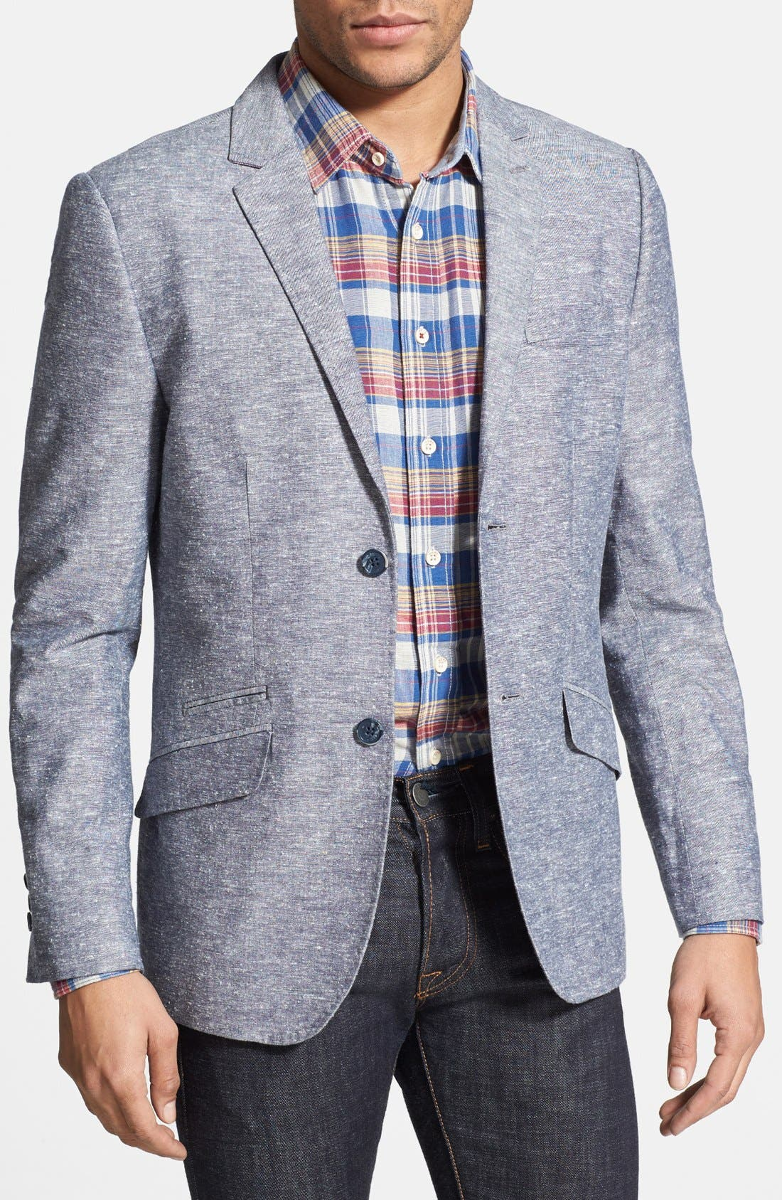 Alternate Image 1 Selected - Howe 'Personal Jesus' Slub Chambray Sportcoat