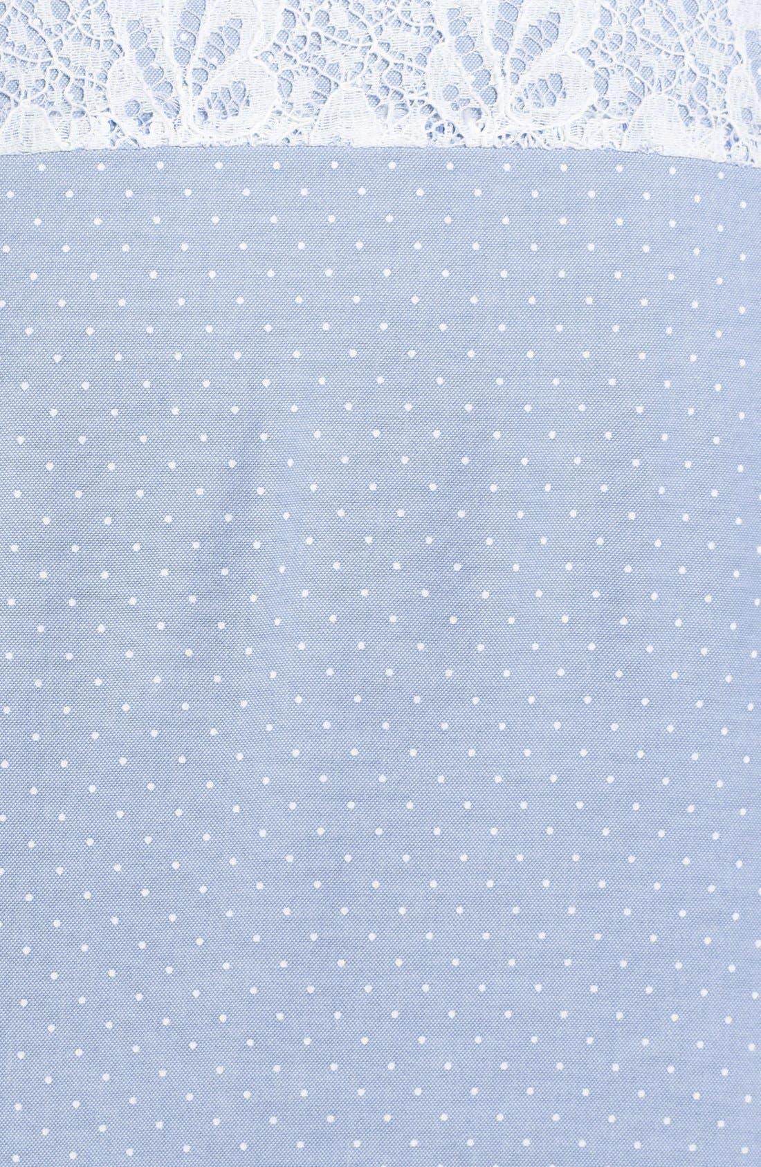 Alternate Image 3  - Hinge® Lace Yoke Dot Print Shirt