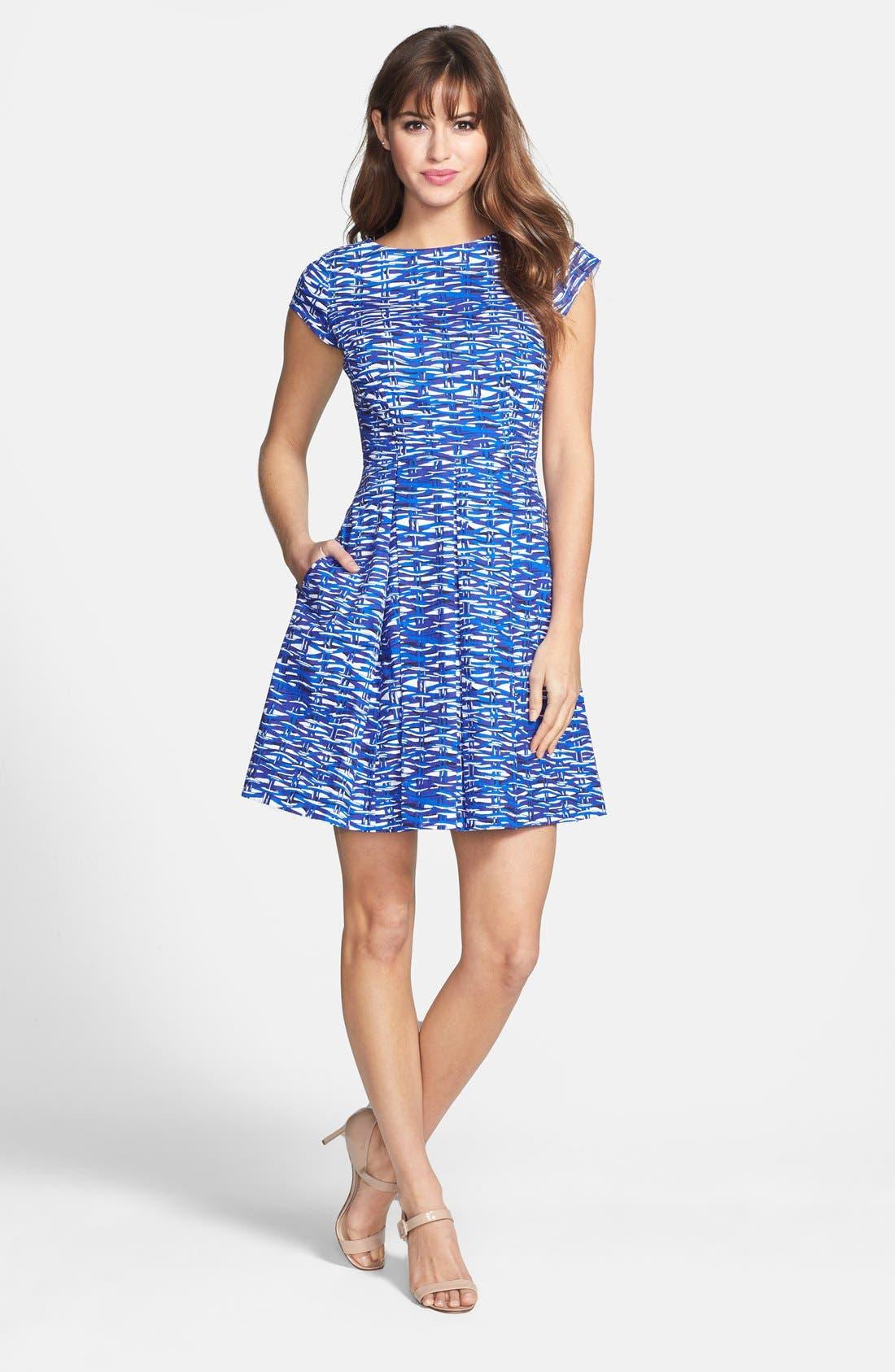 Alternate Image 2  - Felicity & Coco Print Cotton Fit & Flare Dress (Regular & Petite) (Nordstrom Exclusive)