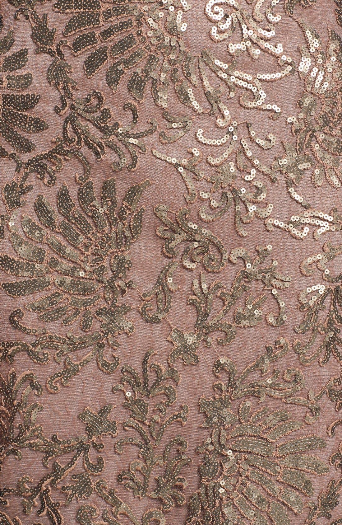 Alternate Image 3  - Tadashi Shoji Illusion Yoke Embellished Lace Sheath Dress