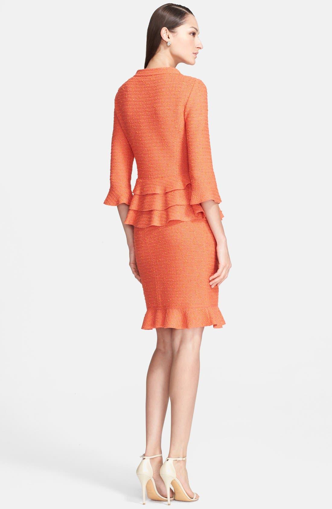 Alternate Image 3  - St. John Collection Flounce Hem Slub Knit Sheath Dress