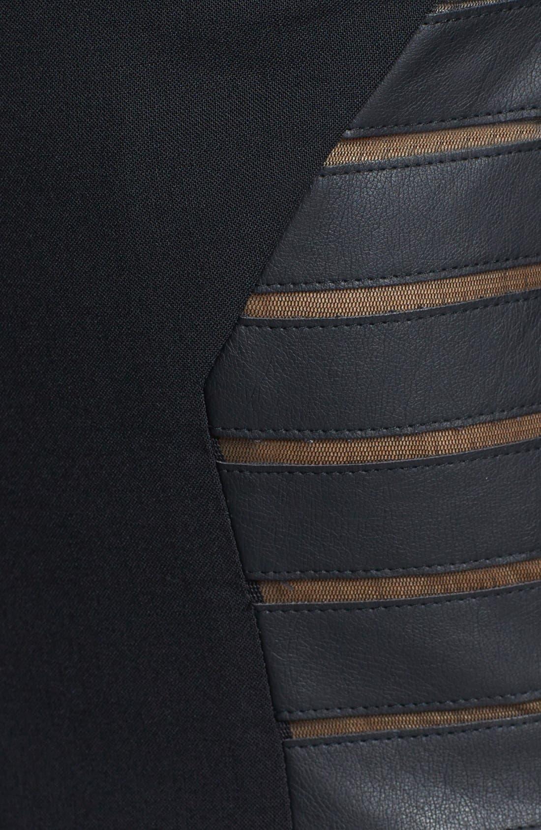 Alternate Image 3  - Rachel Roy Faux Leather Trim V-Neck Dress
