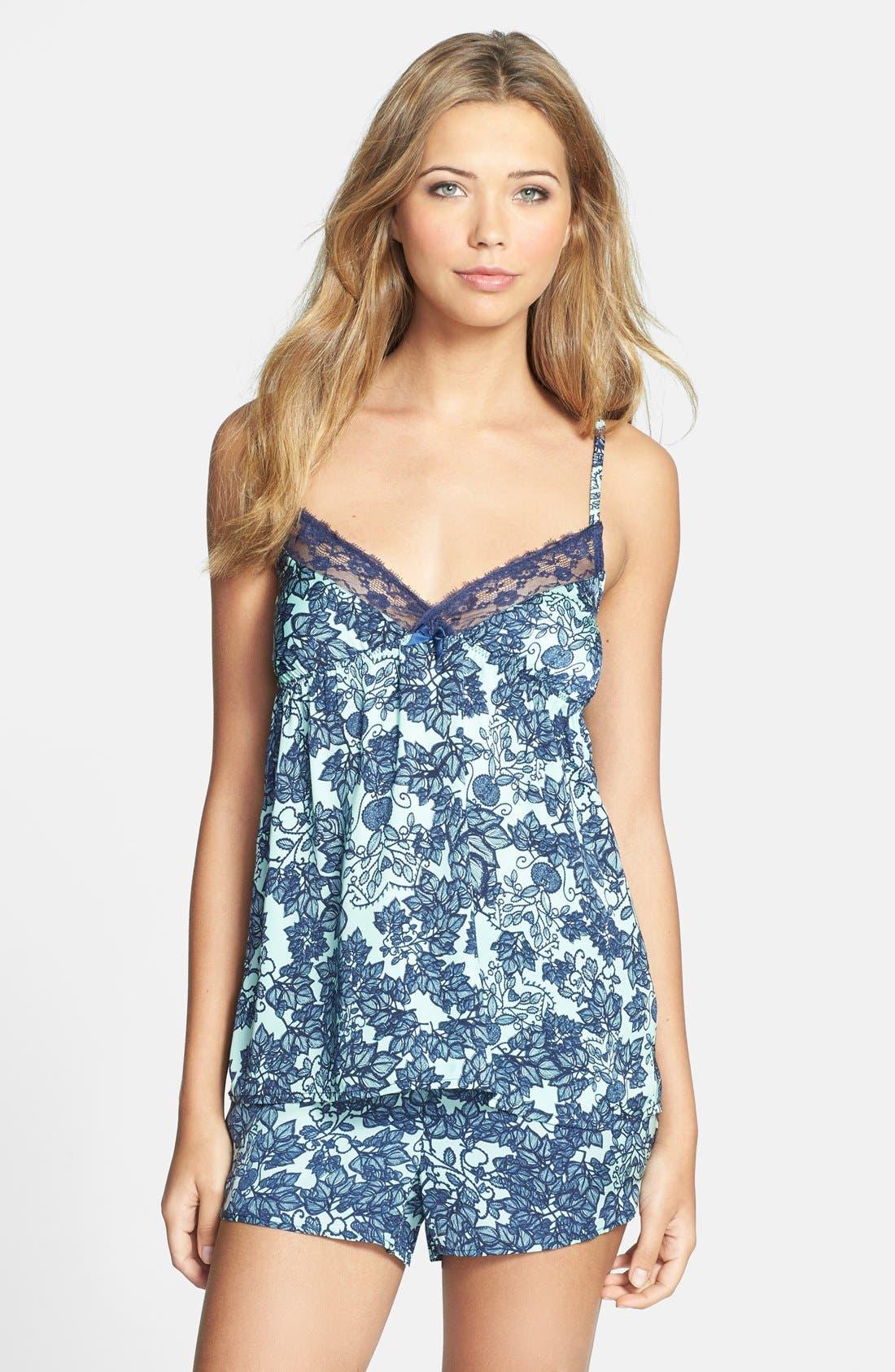 Alternate Image 3  - PJ Luxe 'Mint Leaves' Lace Trim Camisole