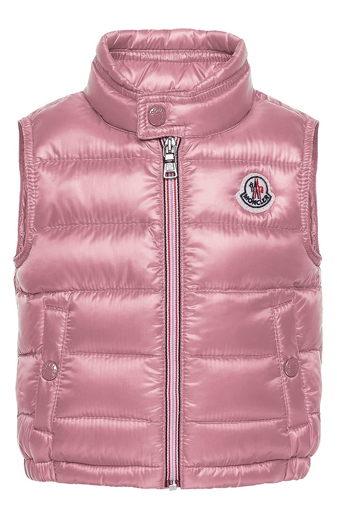 Main Image - Moncler Quilted Vest (Toddler Girls)