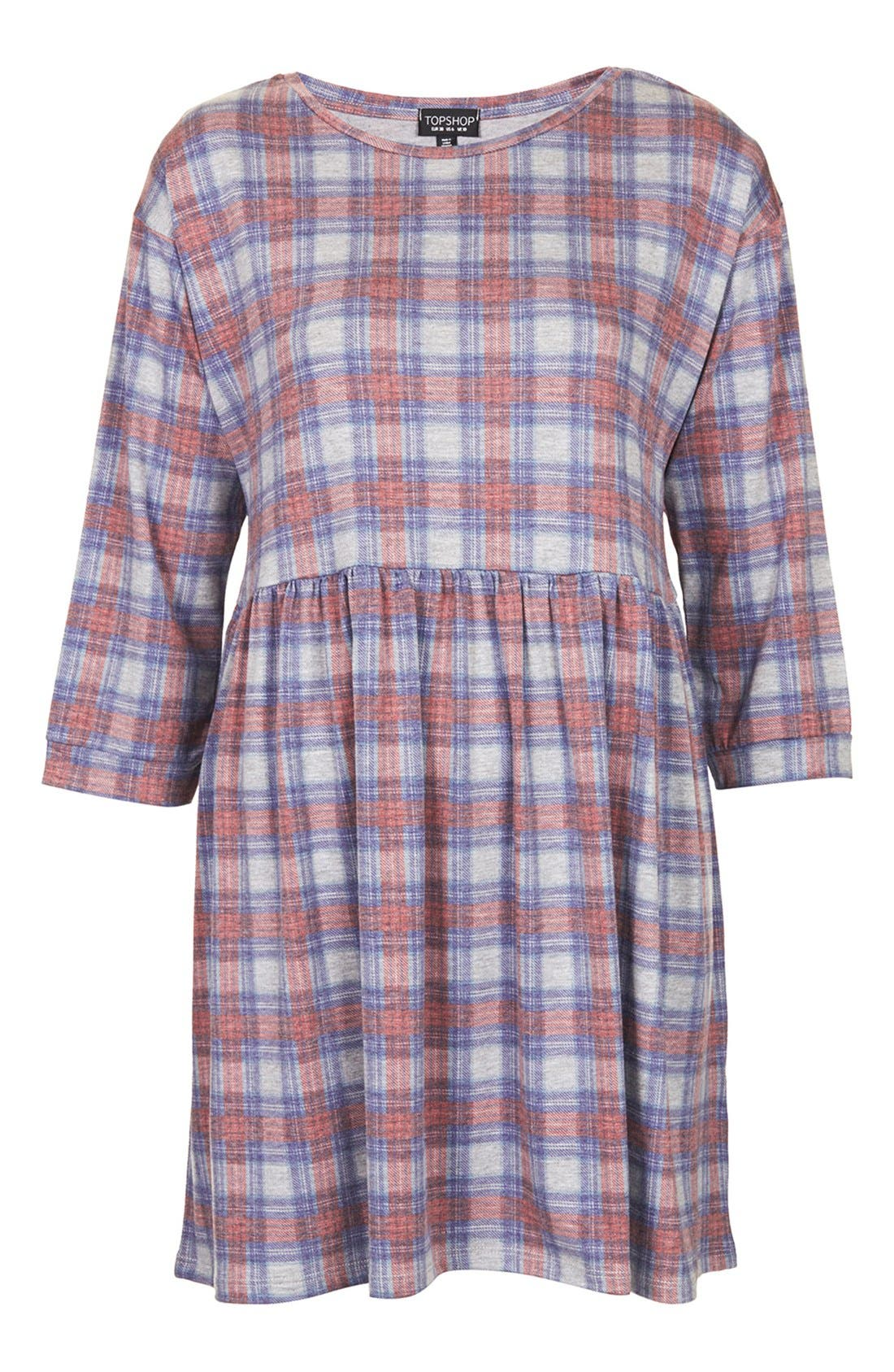 Alternate Image 3  - Topshop Check Smock Dress