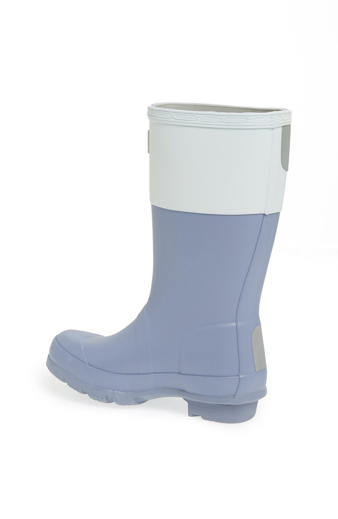 Alternate Image 2  - Hunter 'Original Color Block' Rain Boot (Toddler & Little Kid)