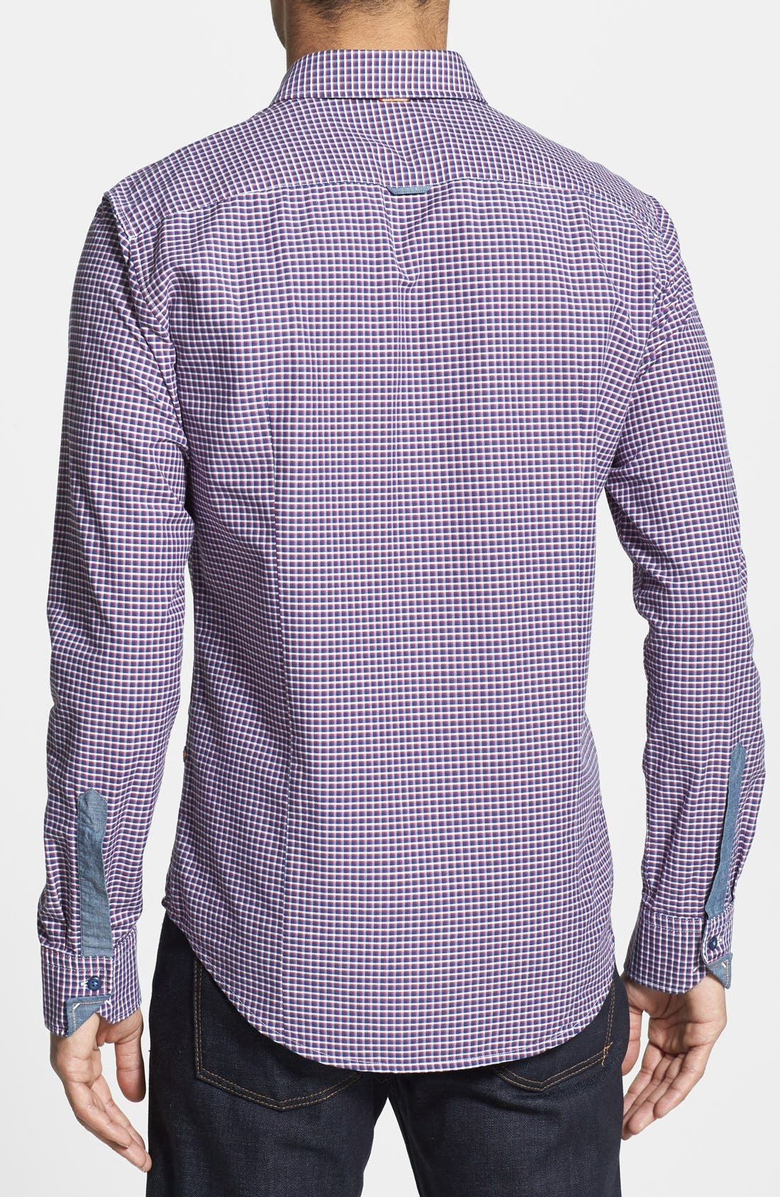Alternate Image 2  - BOSS Orange 'Cliffe' Slim Fit Check Sport Shirt