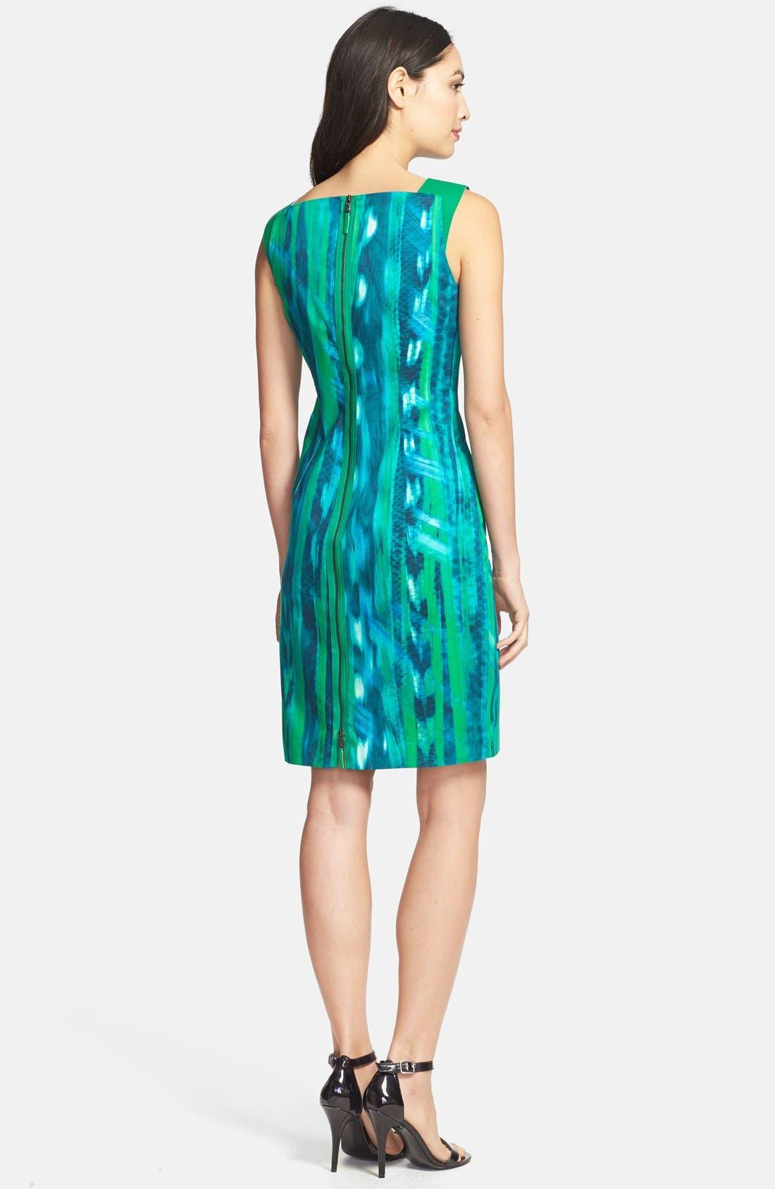 Alternate Image 2  - Elie Tahari 'David' Square Neck Sheath Dress