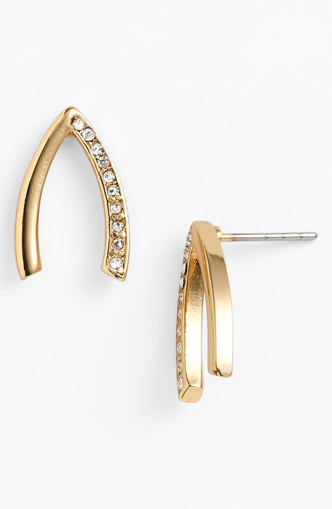 Alternate Image 1 Selected - Rebecca Minkoff 'Jewel Box' Wishbone Stud Earrings