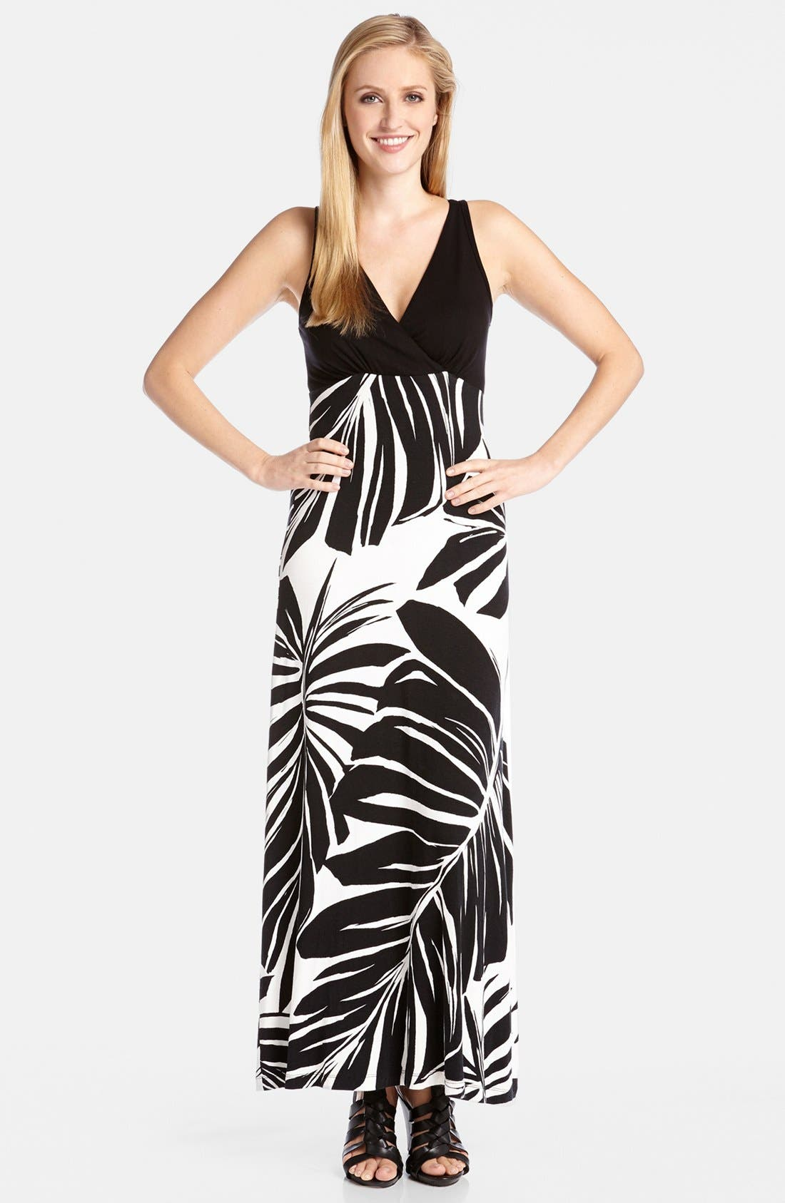 Main Image - Karen Kane Wrap Top Maxi Dress