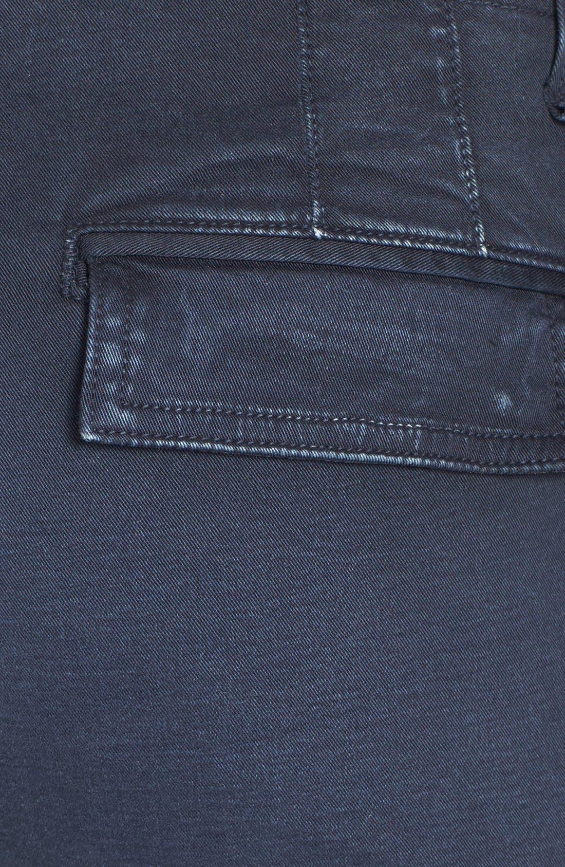 Alternate Image 3  - rag & bone/JEAN 'Bowery' Cargo Skinny Jeans (Distressed Navy)