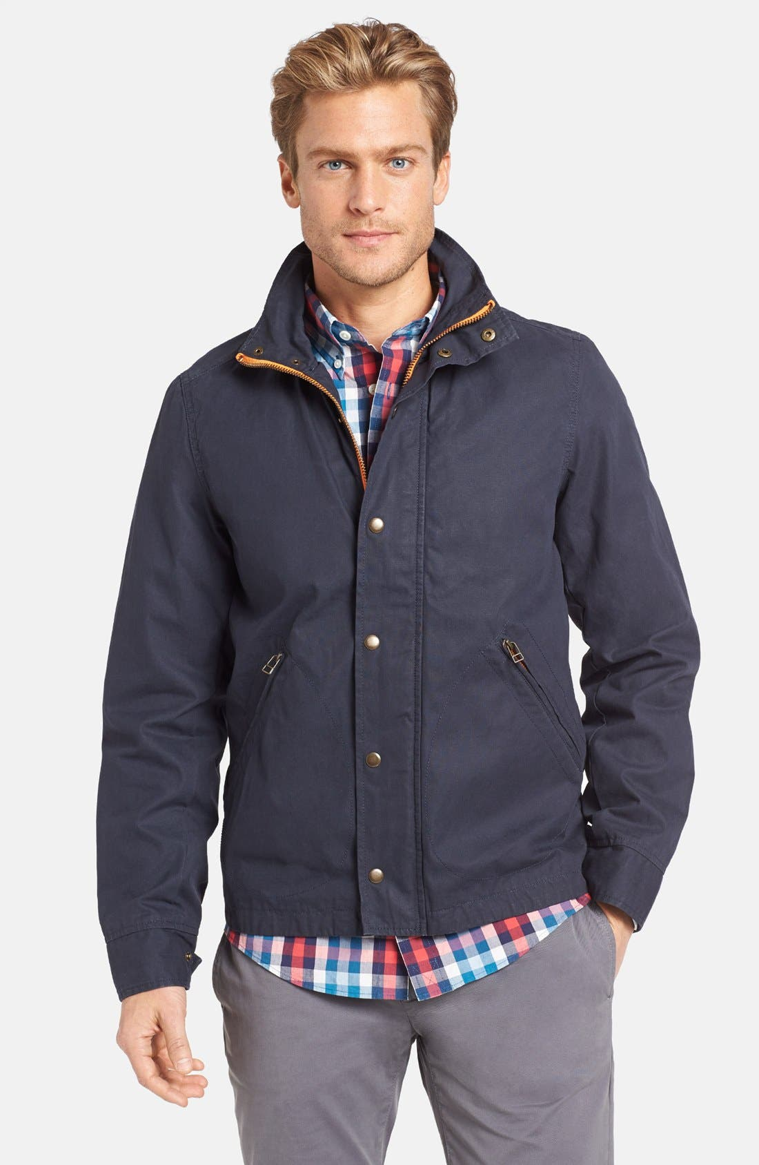 Alternate Image 1 Selected - Jack Spade 'Harrington' Wax Canvas Jacket