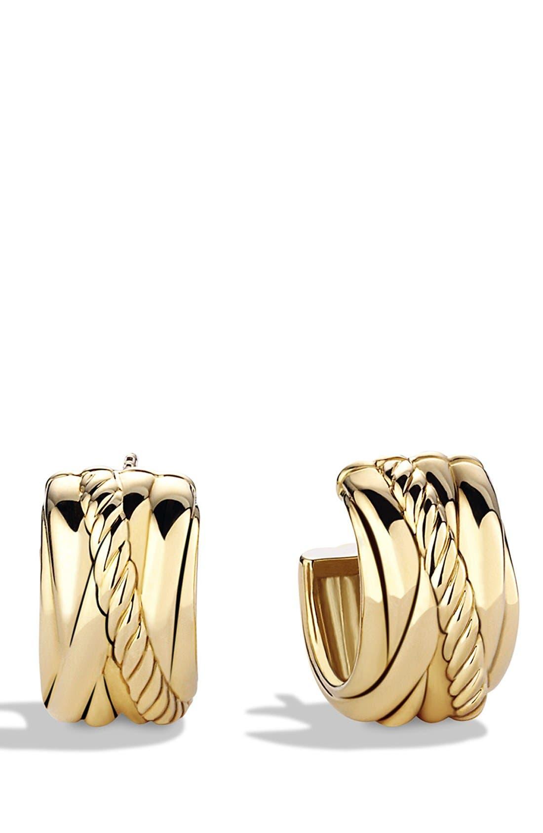 Alternate Image 1 Selected - David Yurman 'Crossover' Earrings in Gold