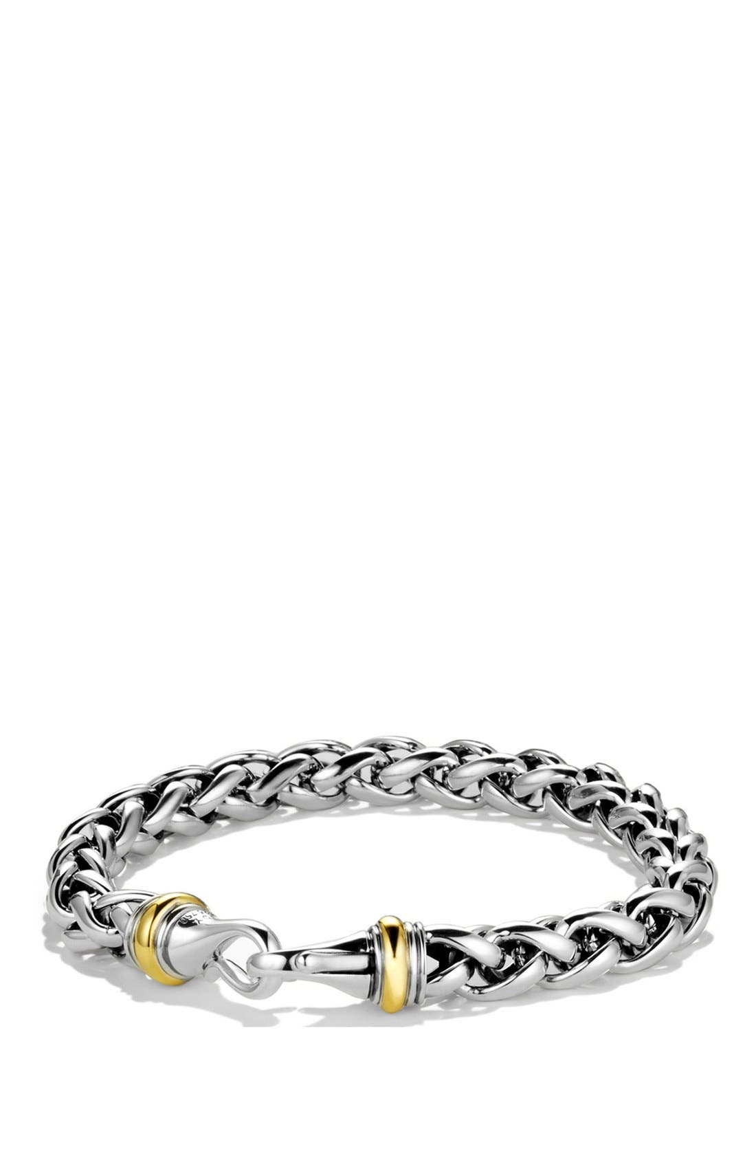Alternate Image 1 Selected - David Yurman 'Chain' Large Wheat Chain Bracelet with Gold