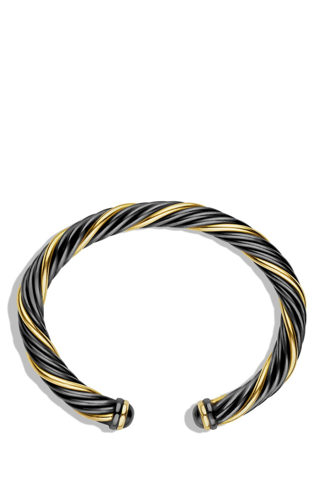 Alternate Image 2  - David Yurman 'Black and Gold' Cable Bracelet