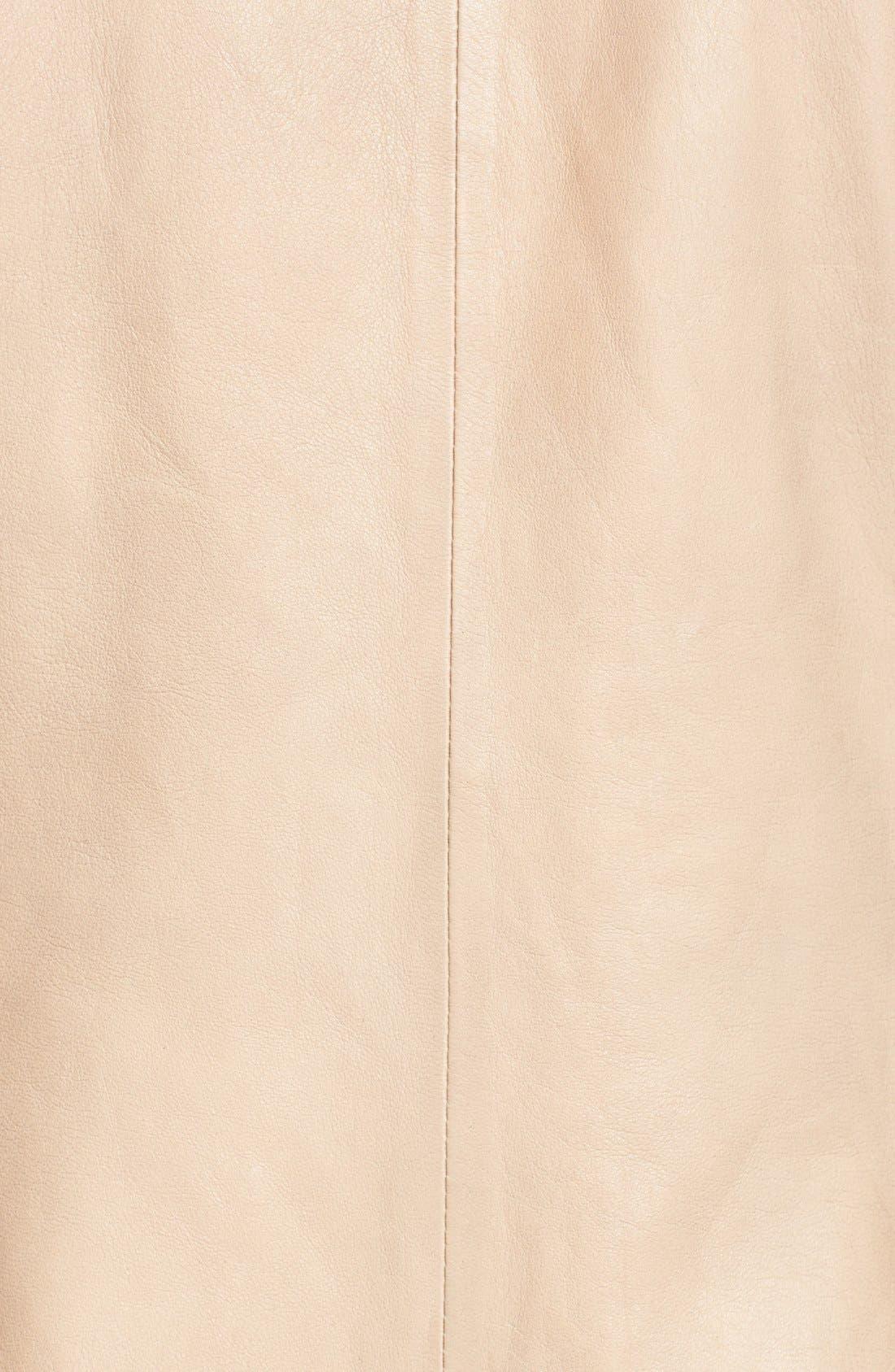 Alternate Image 3  - Cole Haan Zip Front Leather Jacket