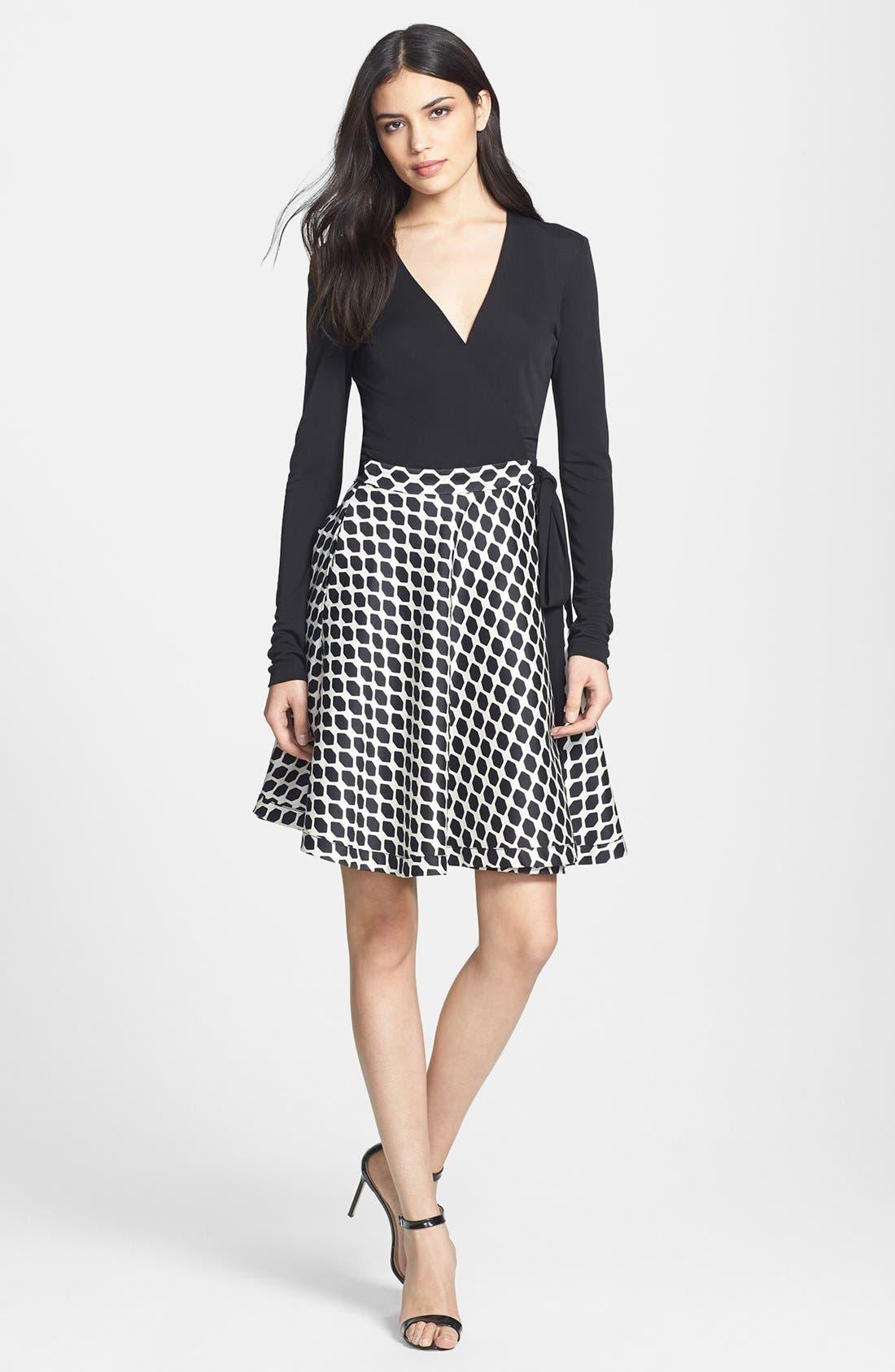 Alternate Image 1 Selected - Diane von Furstenberg 'Amelia' Woven Wrap Dress