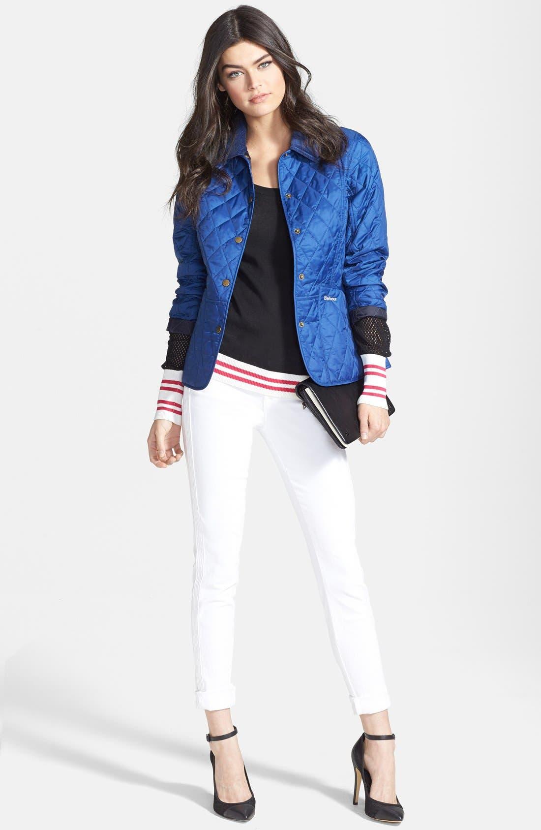 Alternate Image 3  - J Brand Mid Rise Skinny Jeans (Blanc)