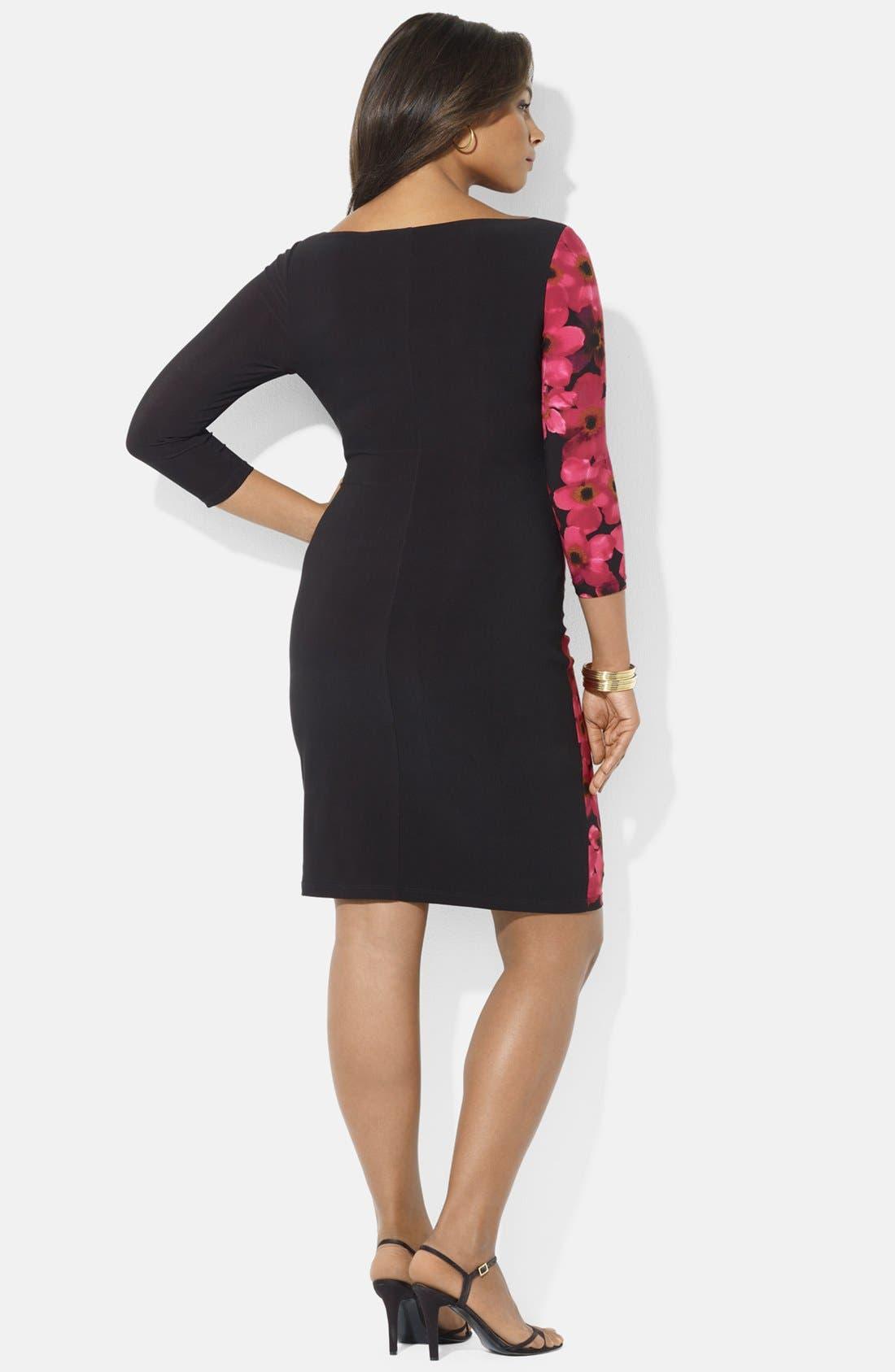 Alternate Image 2  - Lauren Ralph Lauren Jersey Dress (Plus Size)