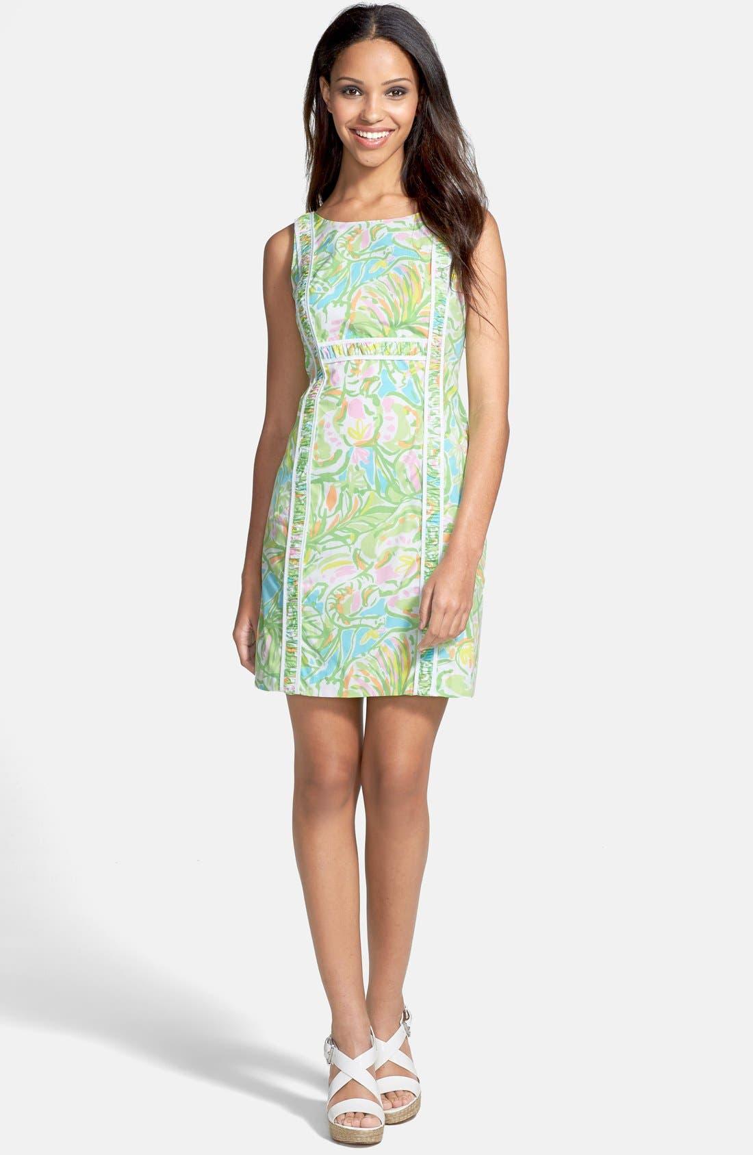 Main Image - Lilly Pulitzer® 'Fryer' Print Cotton Poplin Shift Dress