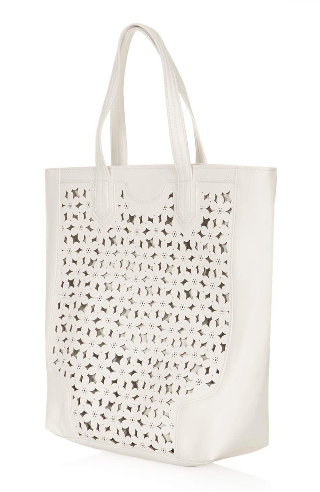 Alternate Image 4  - Topshop Daisy Cutout Tote Bag