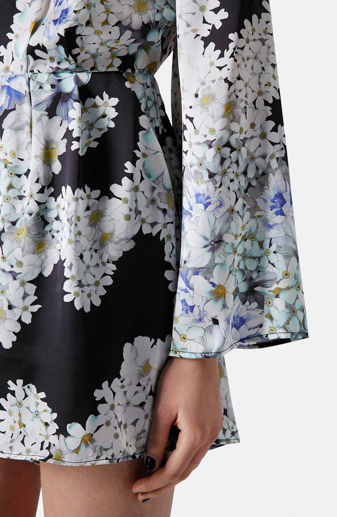 Alternate Image 4  - Topshop Floral V-Back Romper