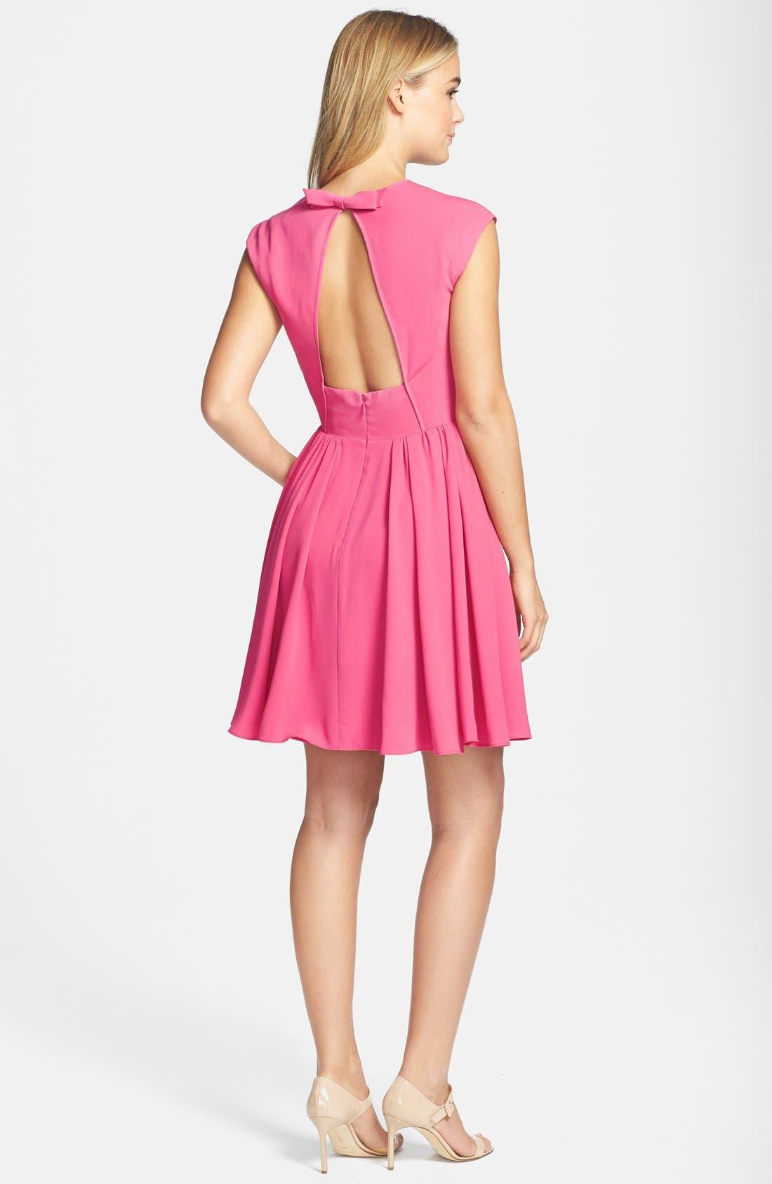 Alternate Image 2  - Jill Jill Stuart Bow Detail Crepe Fit & Flare Dress