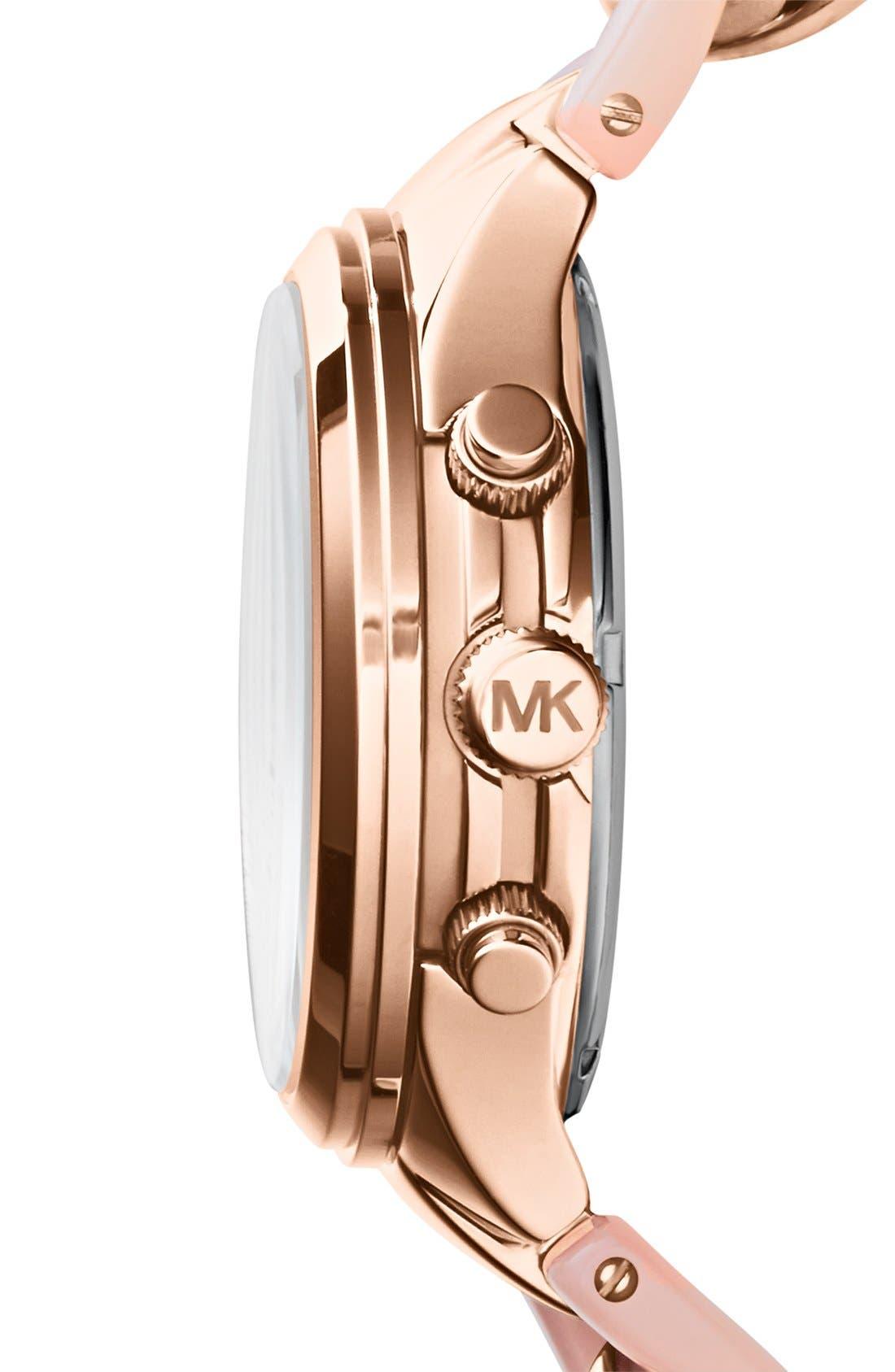 Alternate Image 3  - Michael Kors 'Runway' Pavé Dial Chronograph Link Bracelet Watch, 38mm