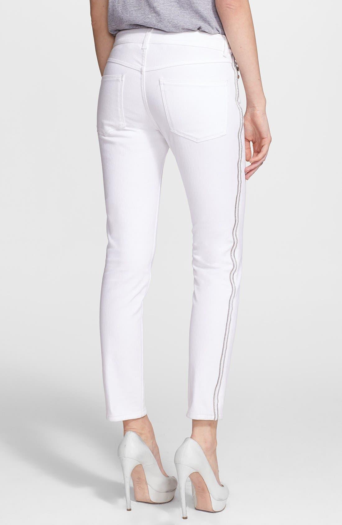 Alternate Image 2  - Alexander McQueen Zip Detail Skinny Ankle Jeans