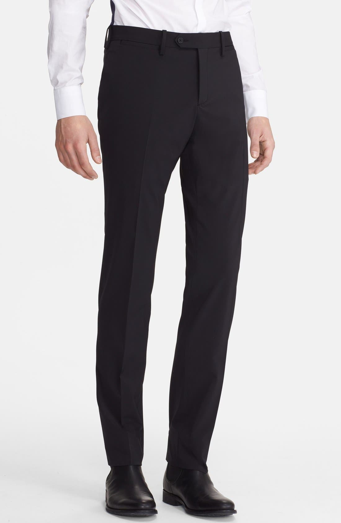 Alternate Image 4  - Neil Barrett Slim Fit Techno Stretch Suit