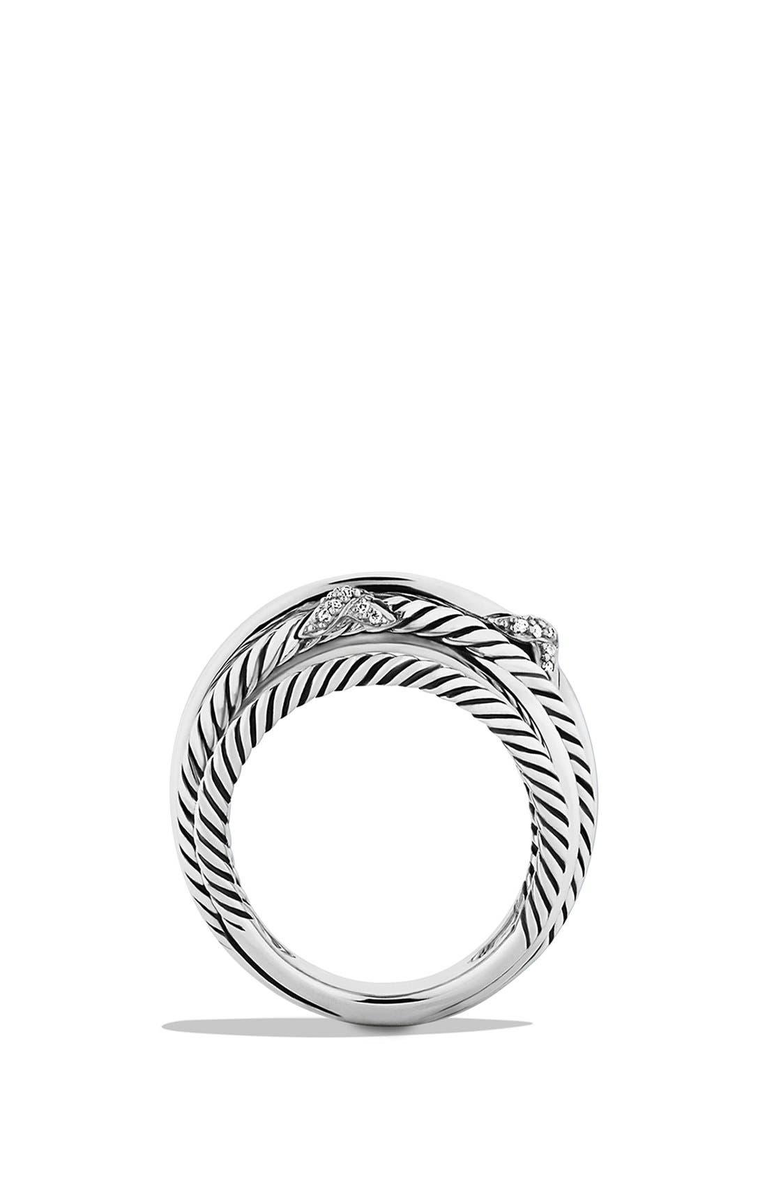 Alternate Image 2  - David Yurman 'Three X Crossover' Ring with Diamonds