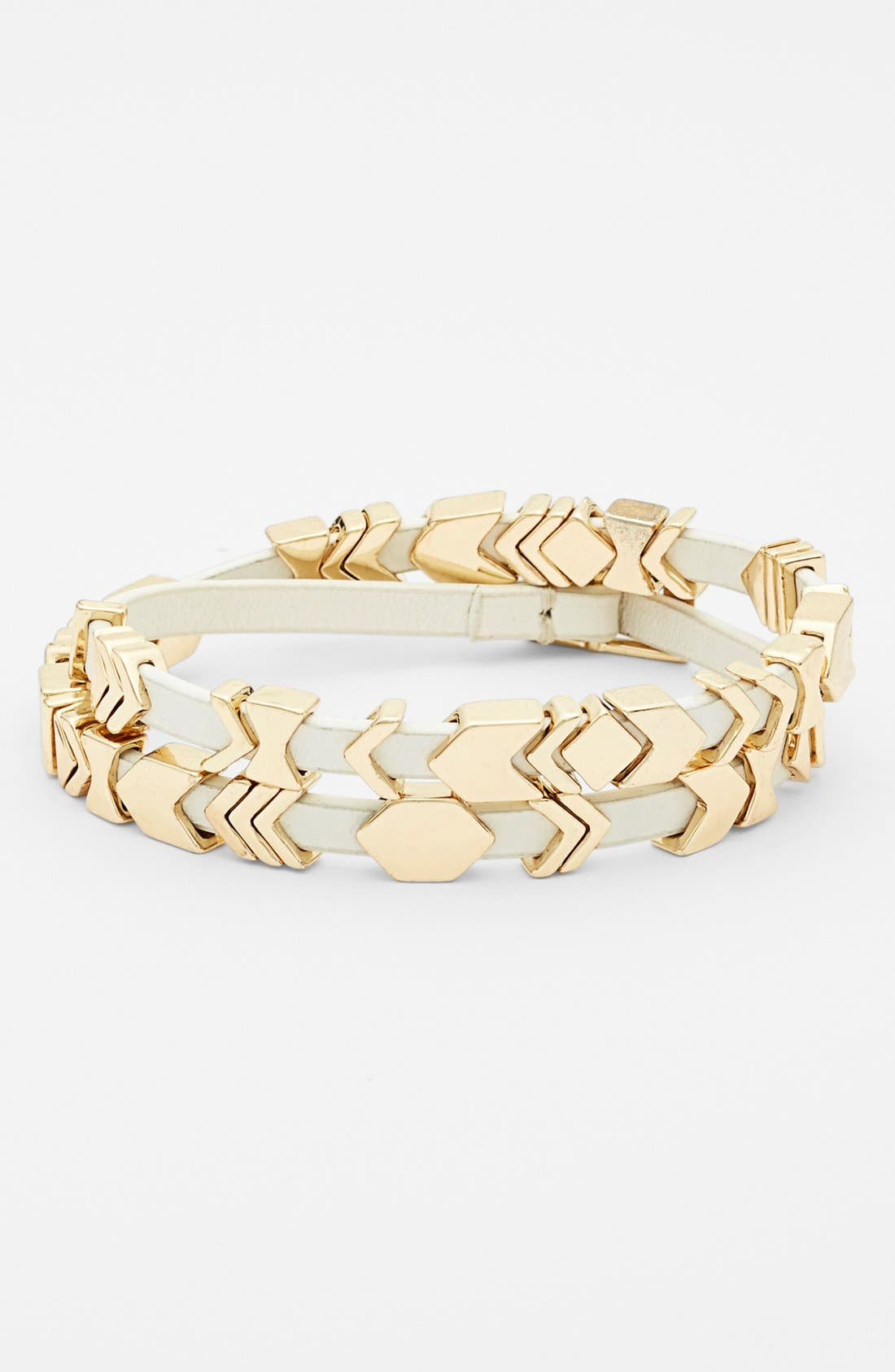 Alternate Image 1 Selected - House of Harlow 1960 Leather Wrap Bracelet