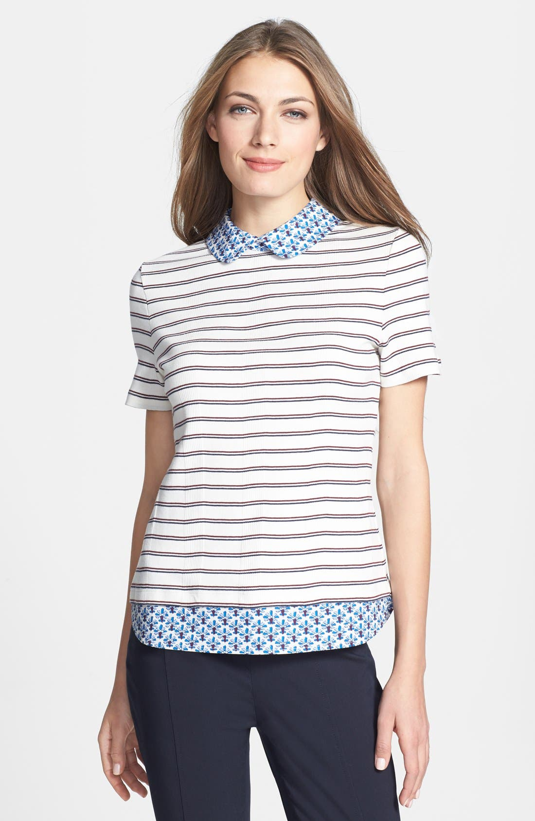 Main Image - Tory Burch 'Alexandria' Cotton Top