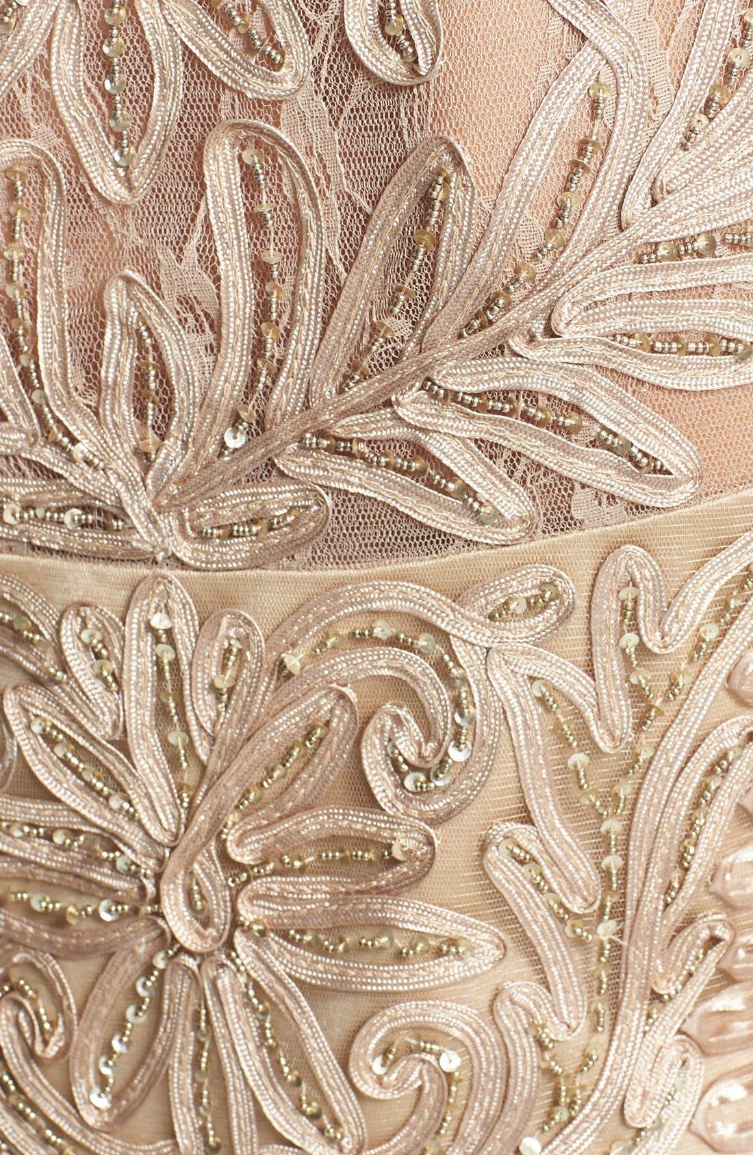 Alternate Image 4  - Sue Wong Embellished Long Sleeve Sheath Dress