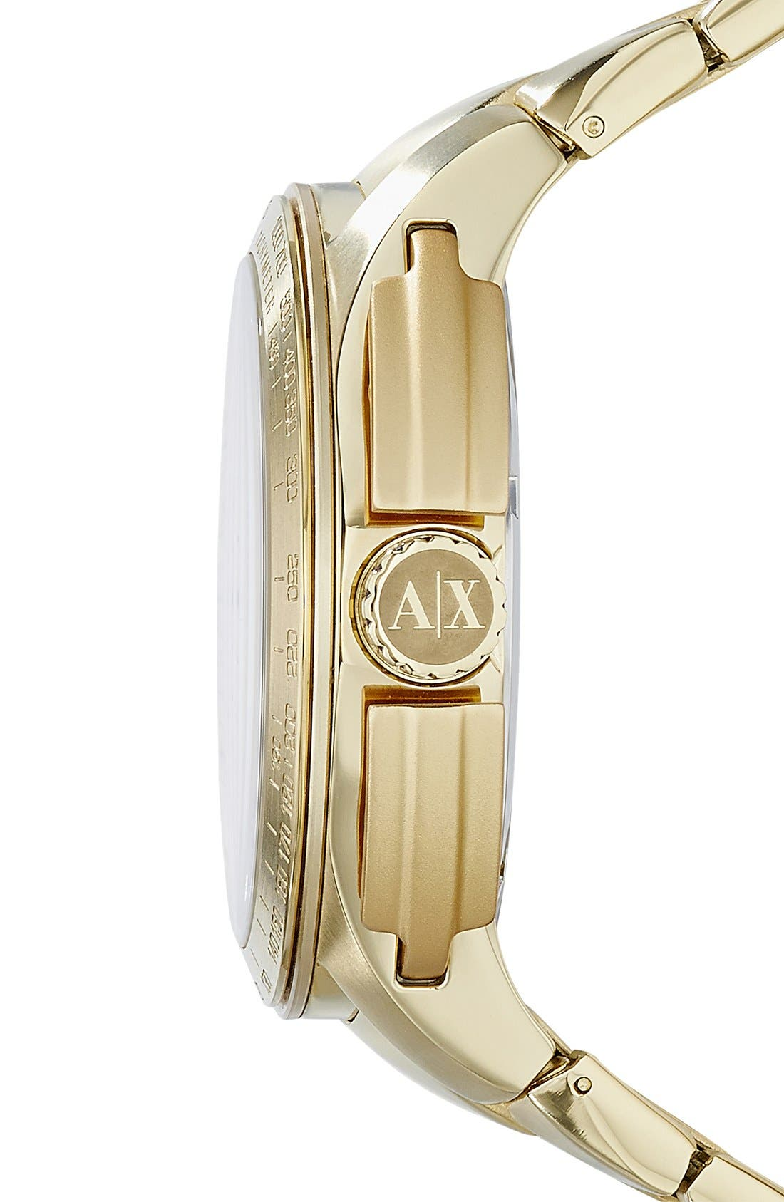 Alternate Image 3  - AX Armani Exchange Aluminum Accent Bracelet Watch, 45mm