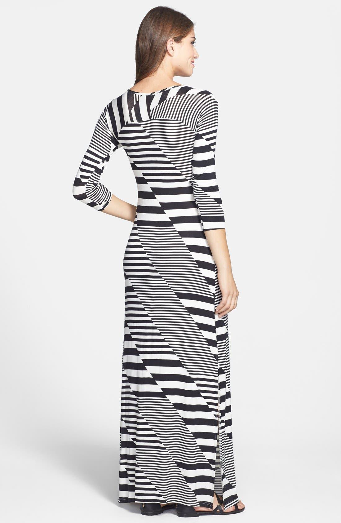 Alternate Image 2  - Jessica Simpson 'Rowan' Stripe Maxi Dress